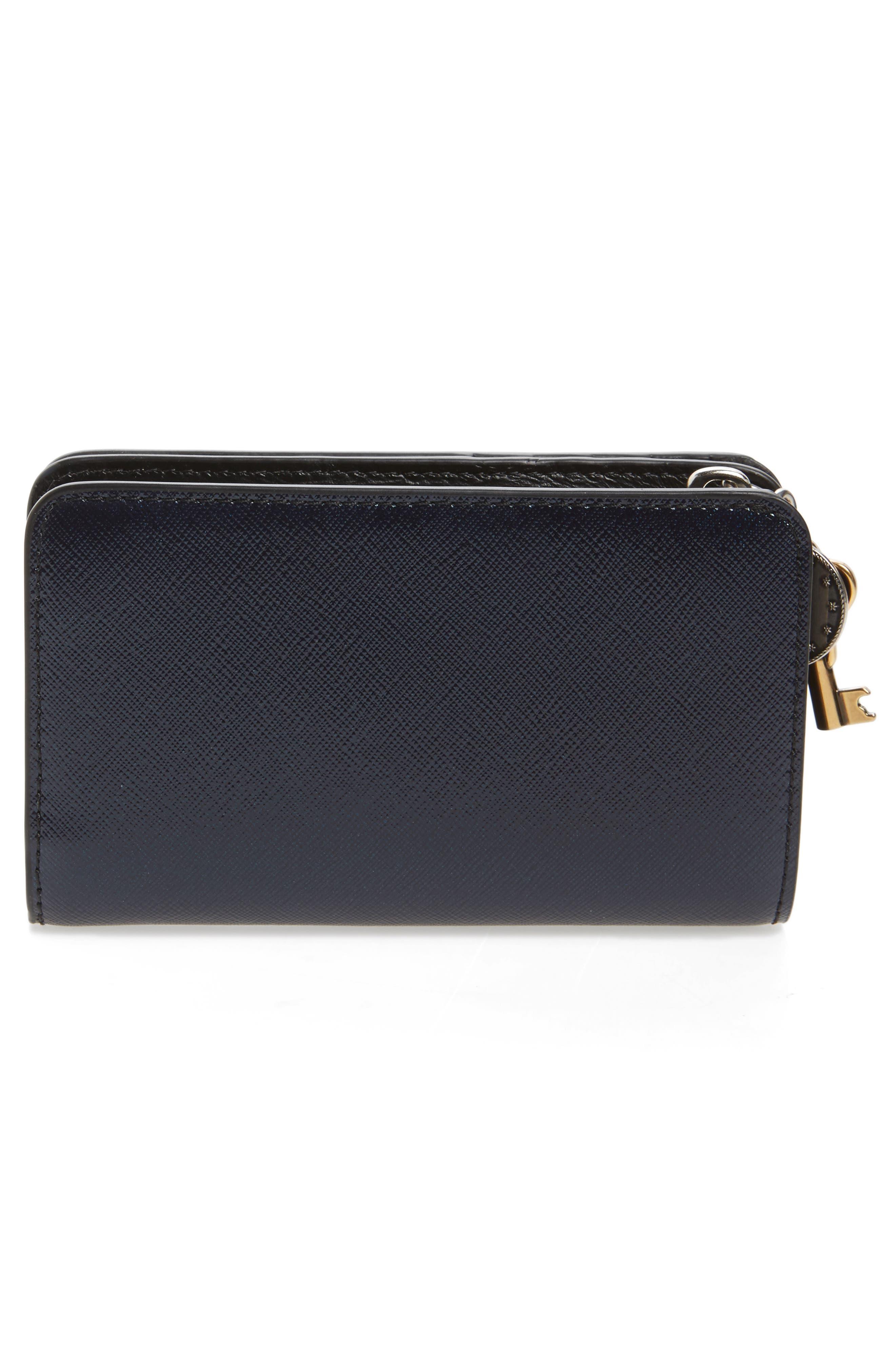 MARC JACOBS,                             Saffiano Leather Compact Wallet,                             Alternate thumbnail 3, color,                             410