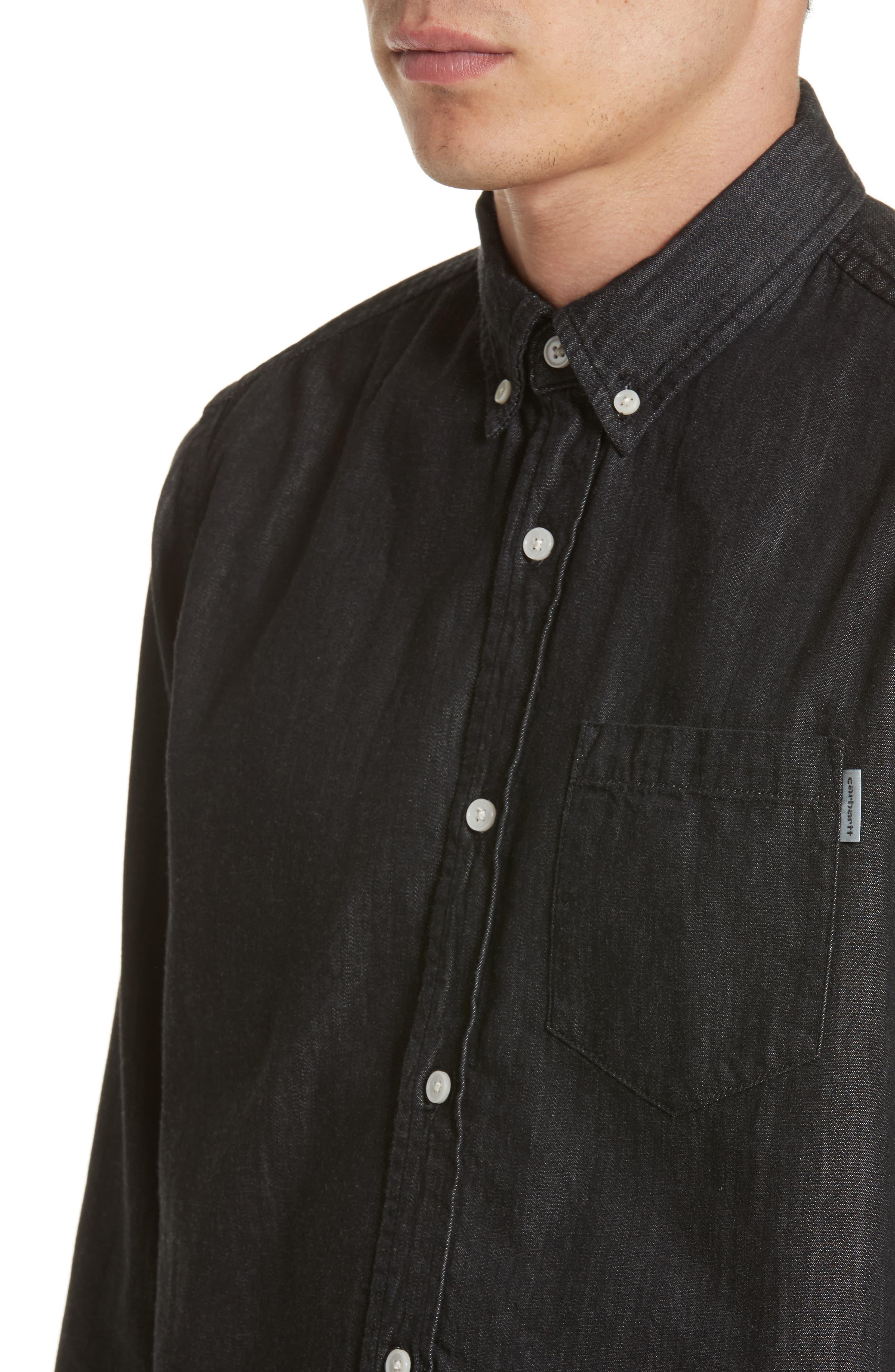 Nashville Denim Shirt,                             Alternate thumbnail 4, color,                             001