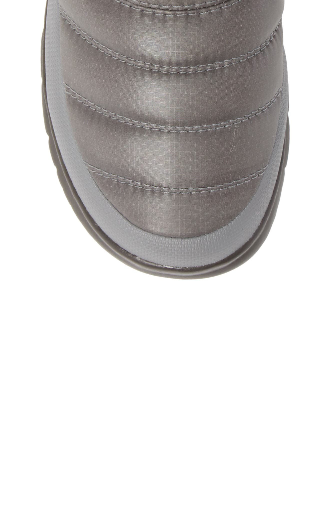 Microbaffle Waterproof ThermoBall<sup>®</sup> Insulated Winter Boot,                             Alternate thumbnail 5, color,                             SHINY FROST GREY/ BLUE HAZE