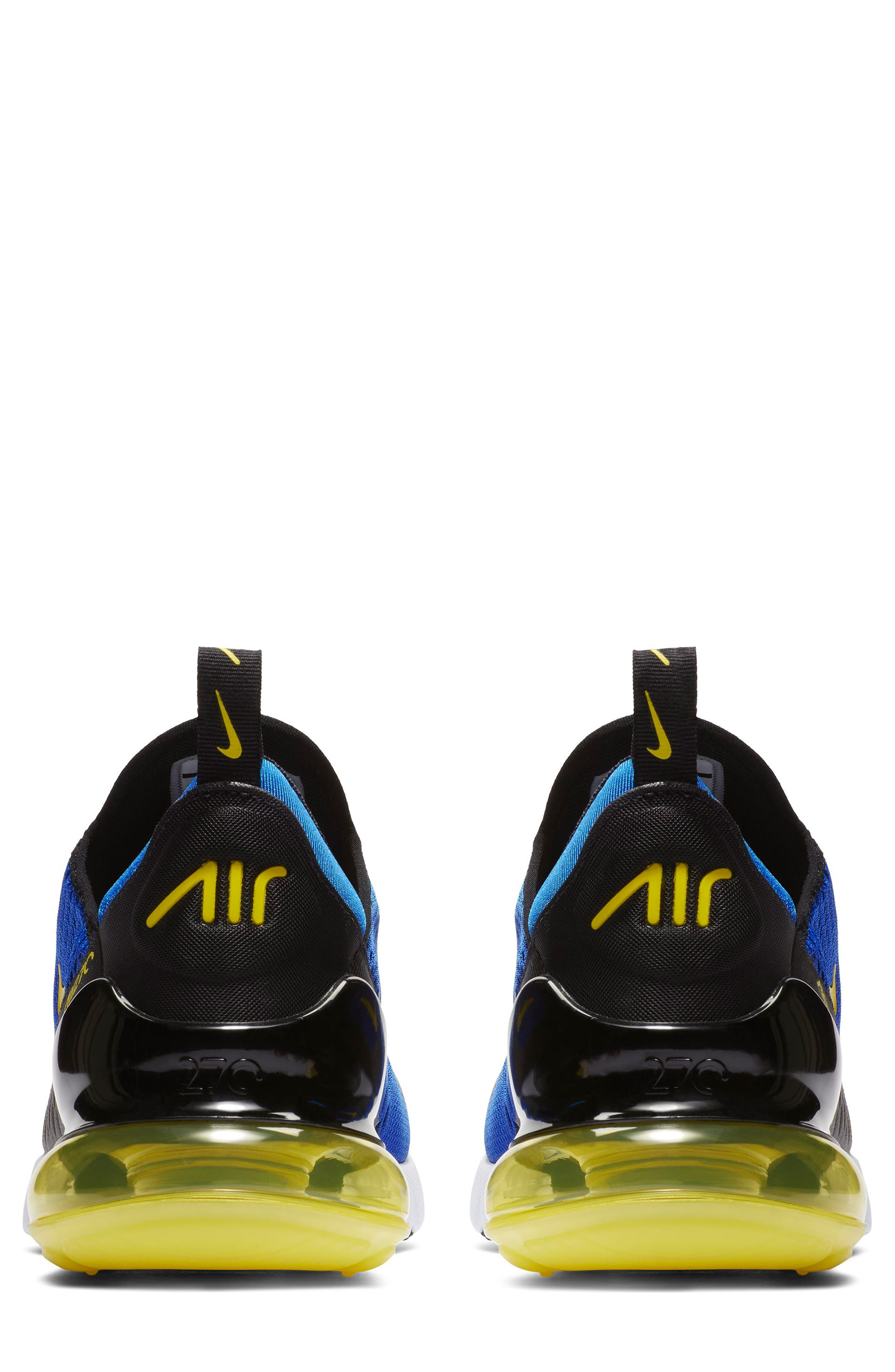 Air Max 270 Sneaker,                             Alternate thumbnail 5, color,                             GAME ROYAL/ WHITE/ BLACK