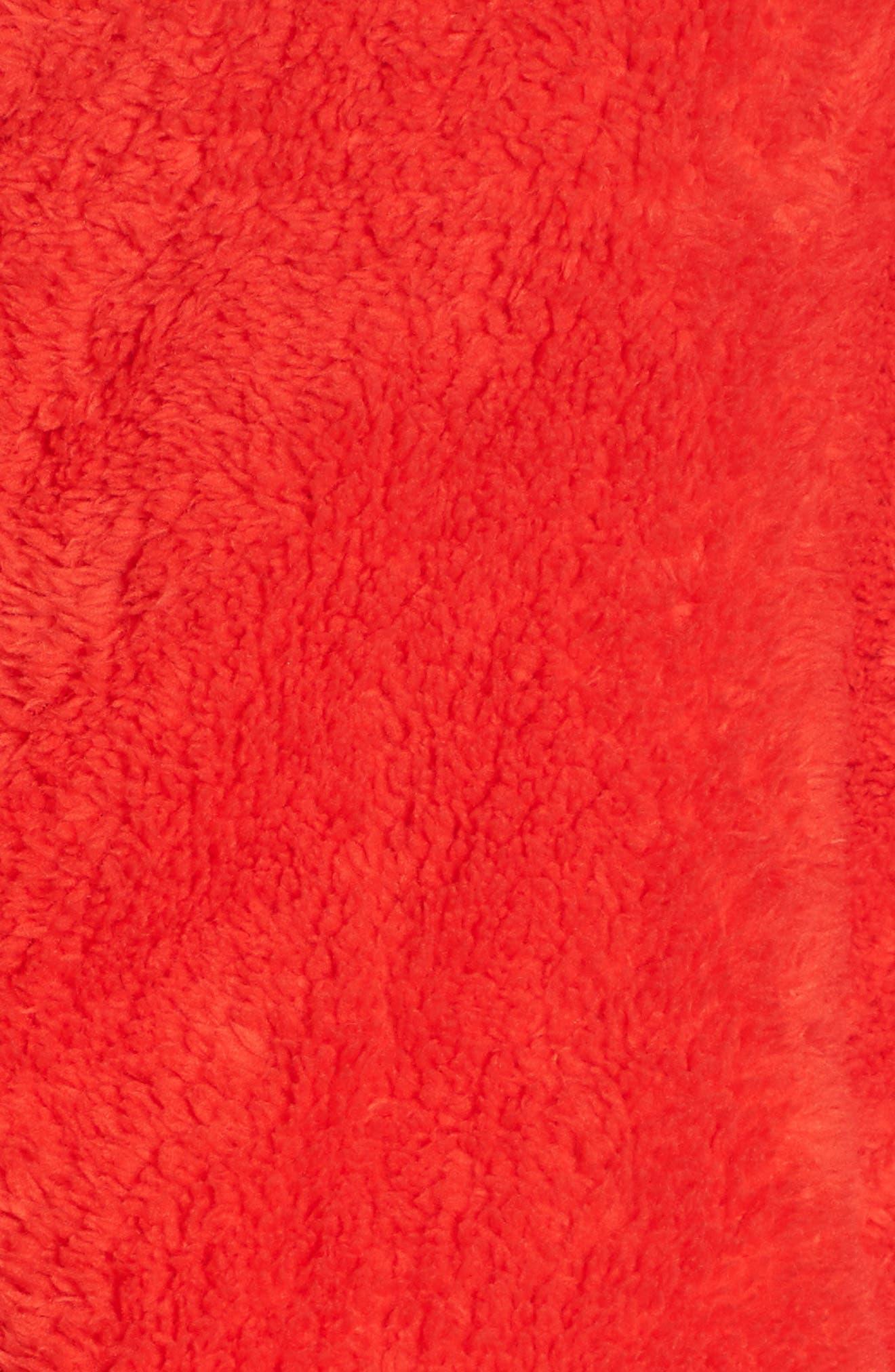 Dazed Fleece Jacket,                             Alternate thumbnail 6, color,                             RED