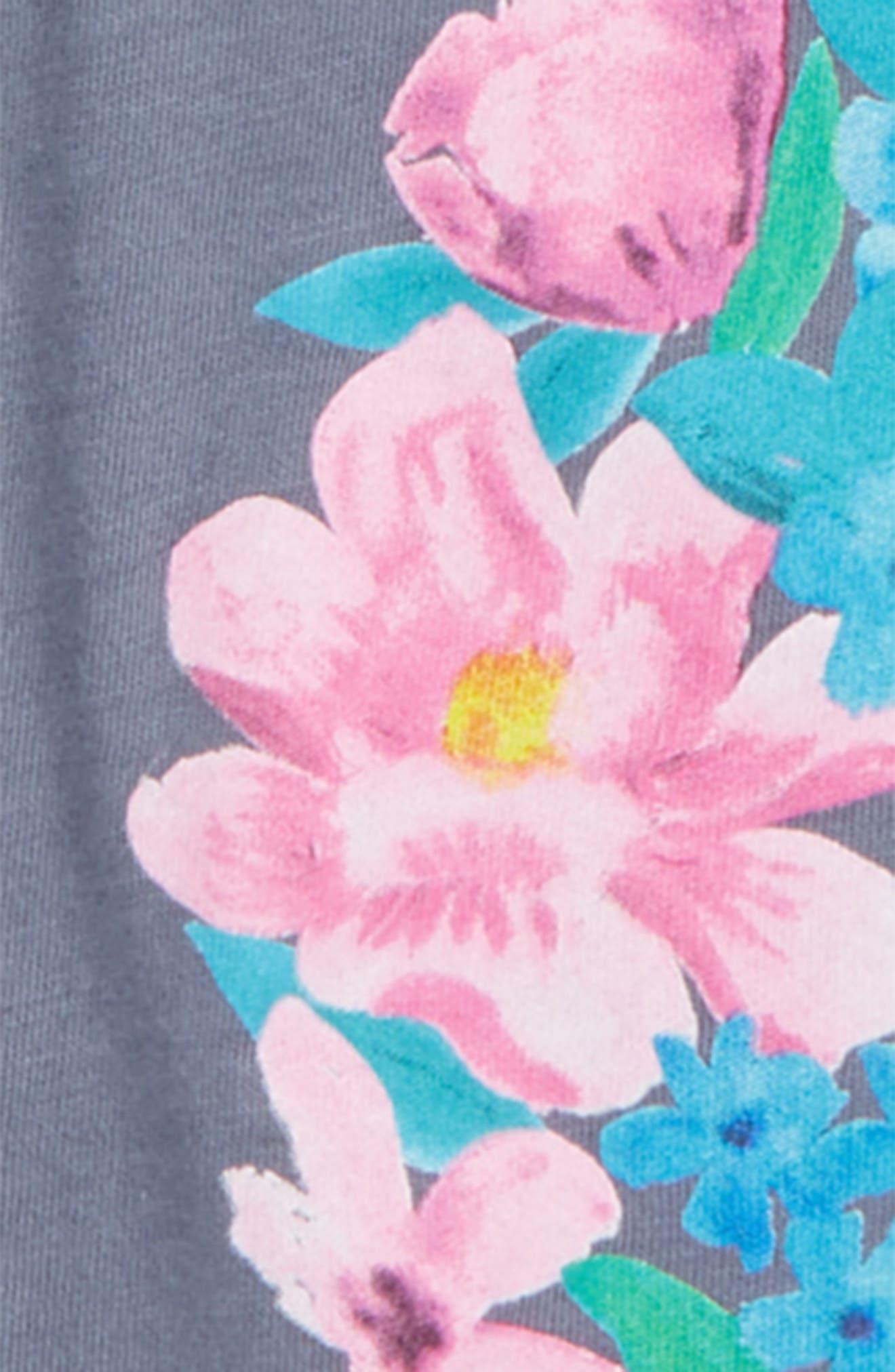 Floret Screenprint Long Sleeve Tee,                             Alternate thumbnail 2, color,                             028