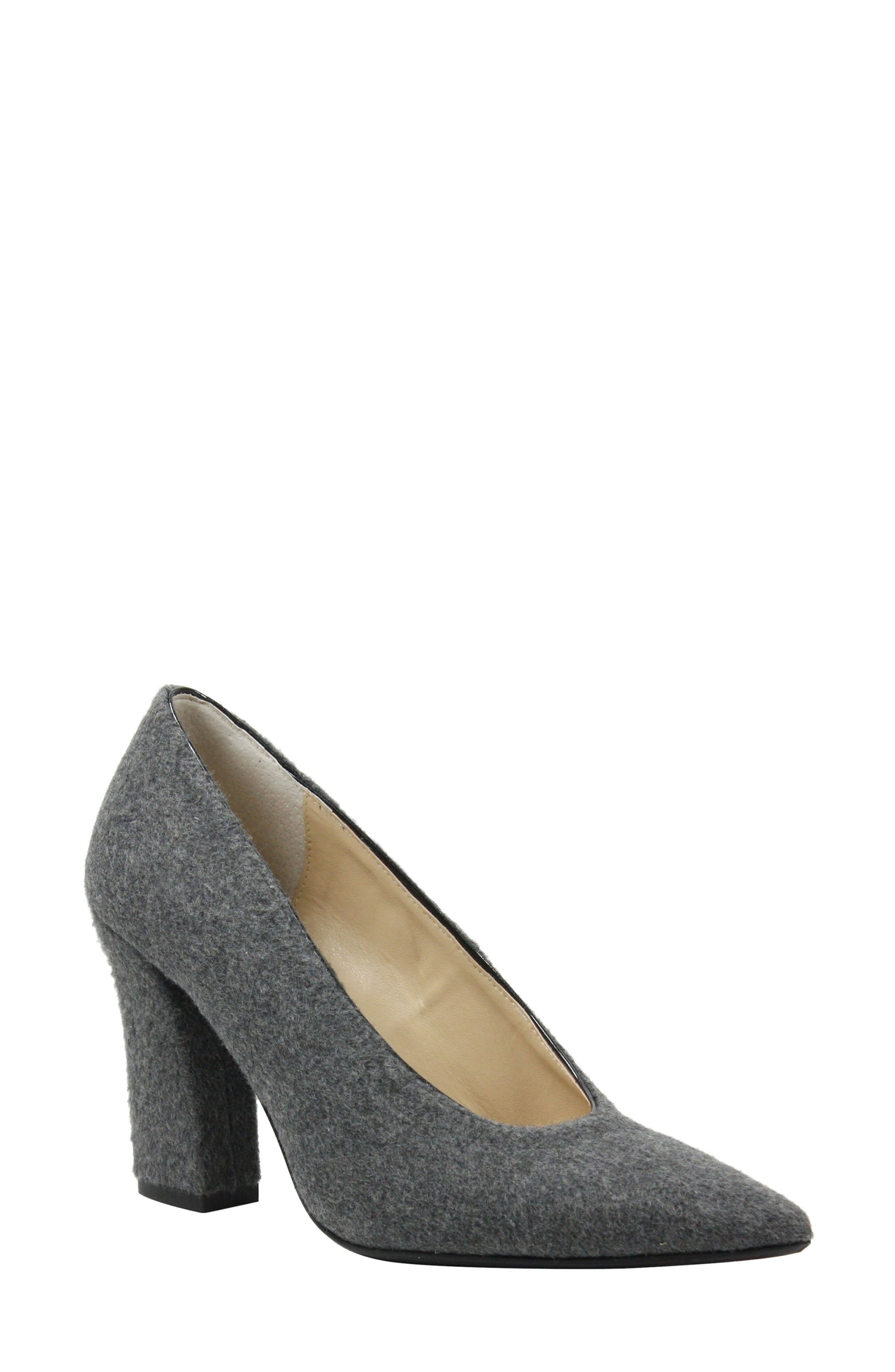 J. RENEÉ Madisson Pointy Toe Pump, Main, color, GREY FABRIC