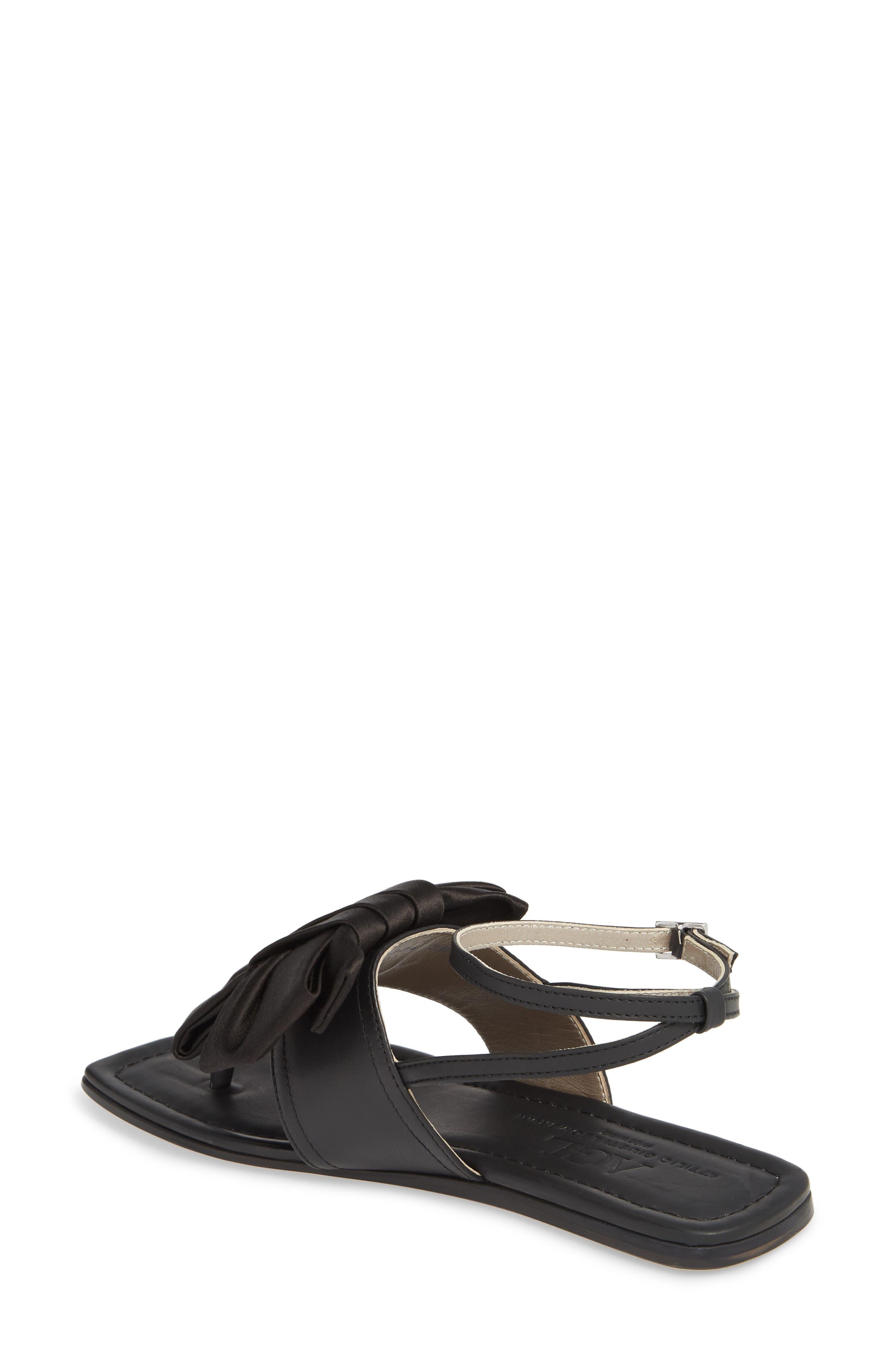 Ankle Strap Sandal,                             Alternate thumbnail 2, color,                             BLACK LEATHER