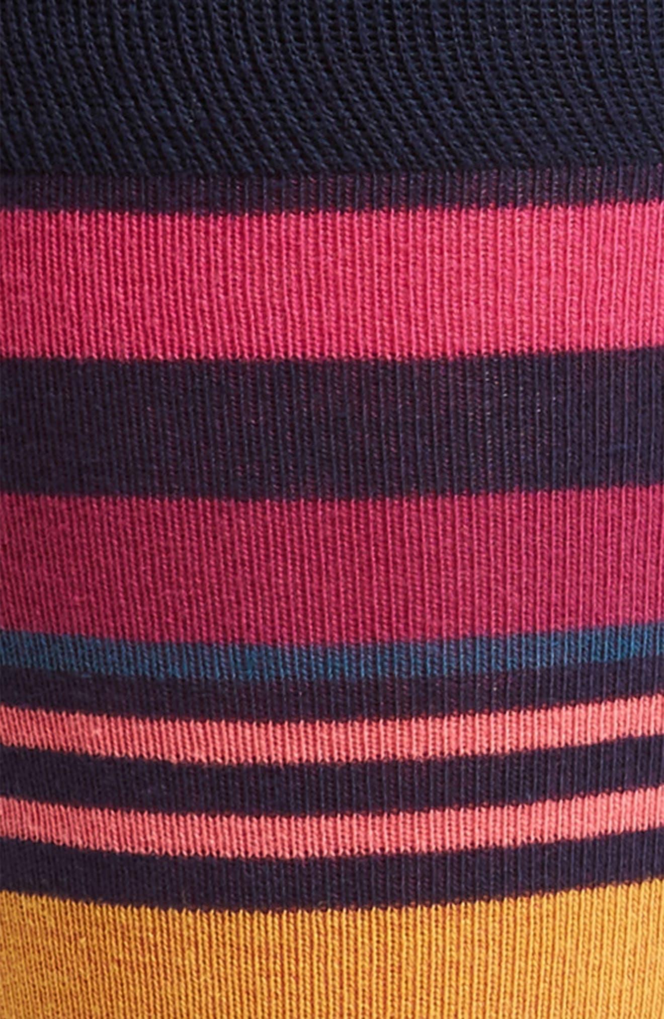Multi Stripe Socks,                             Alternate thumbnail 2, color,                             NAVY/ PINK