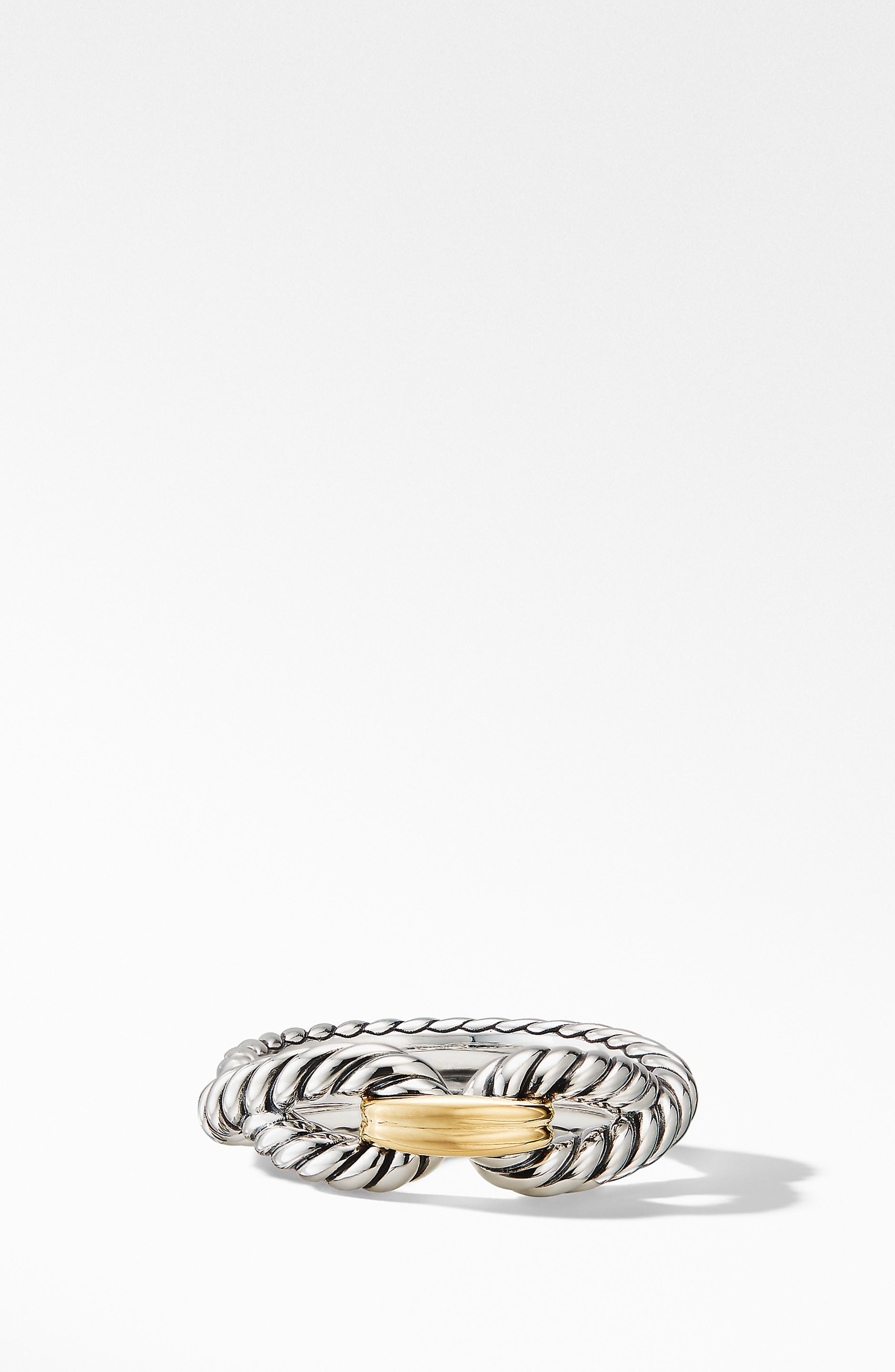 Cable Loop Ring with 18K Gold,                             Alternate thumbnail 2, color,                             YELLOW GOLD/ STERLING SILVER