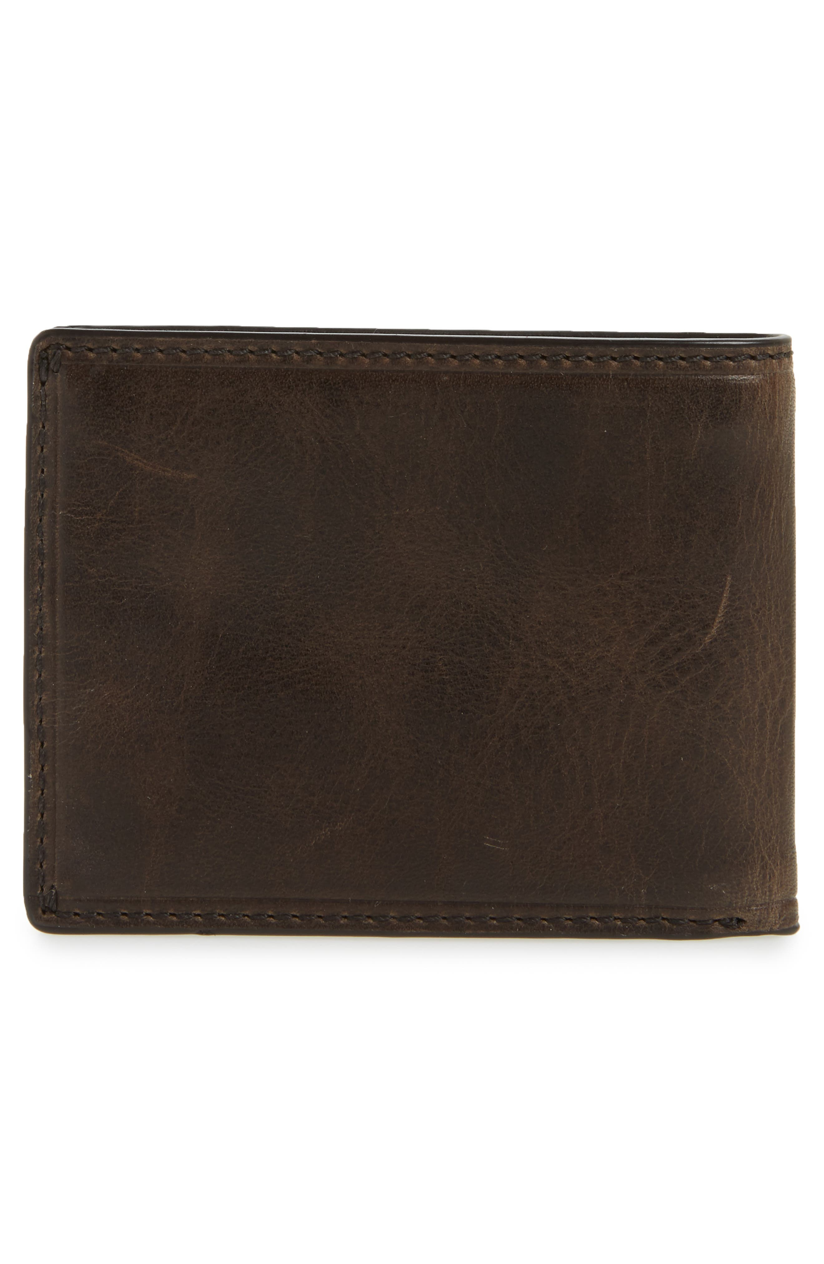 Logan Leather Wallet,                             Alternate thumbnail 3, color,                             SLATE