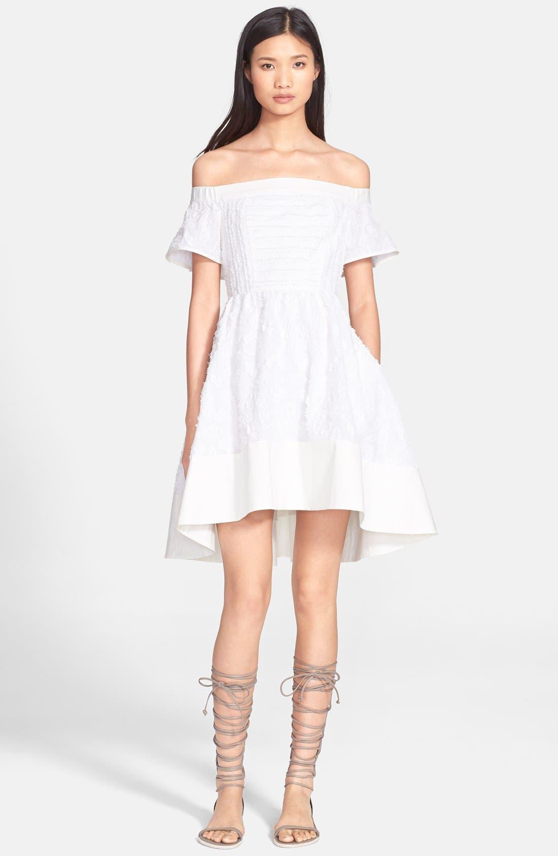 'Sakura' Off the Shoulder Fil Coupe Dress,                             Main thumbnail 1, color,