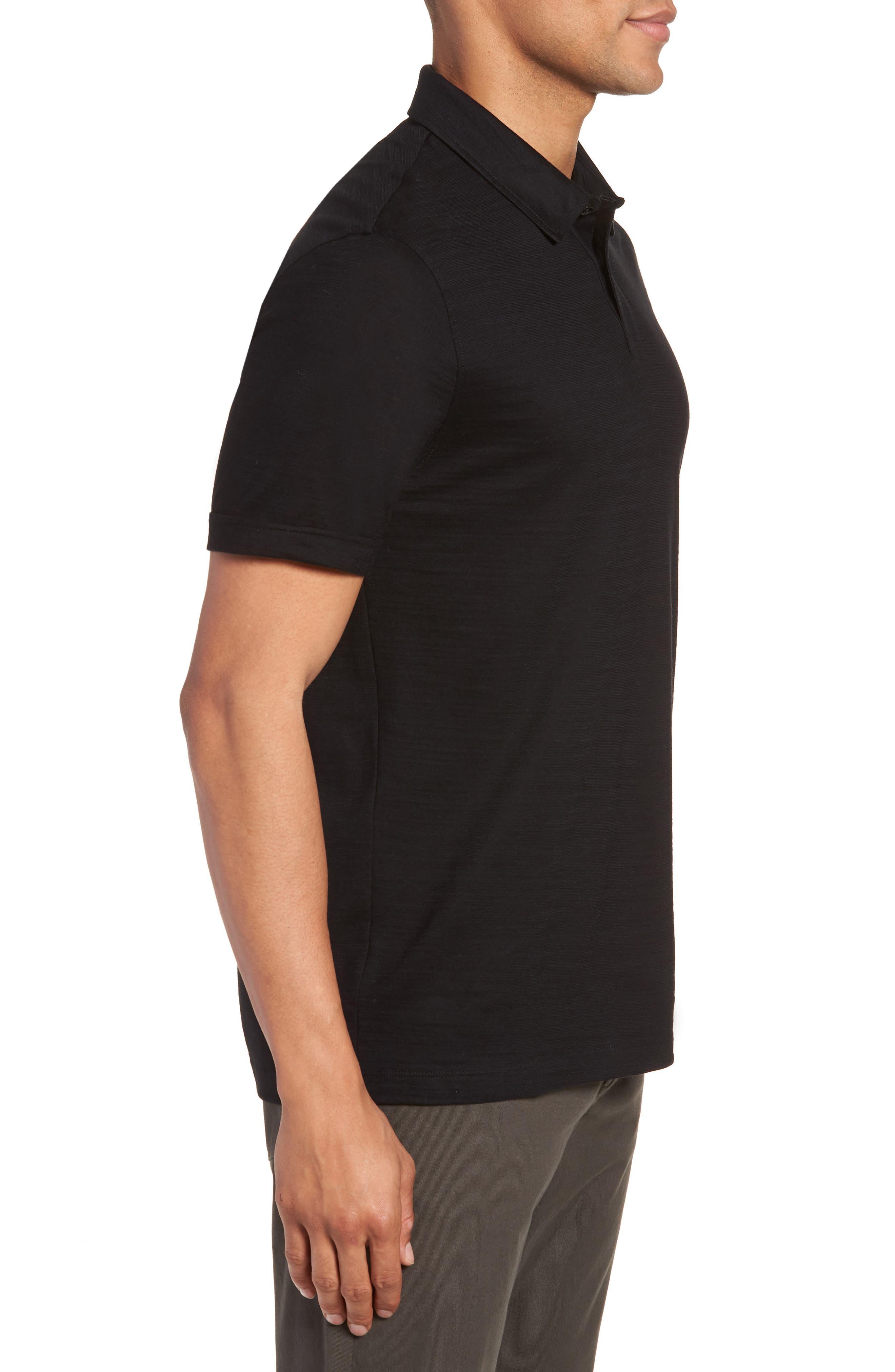 Press Flame Slim Fit Polo Shirt,                             Alternate thumbnail 3, color,                             001