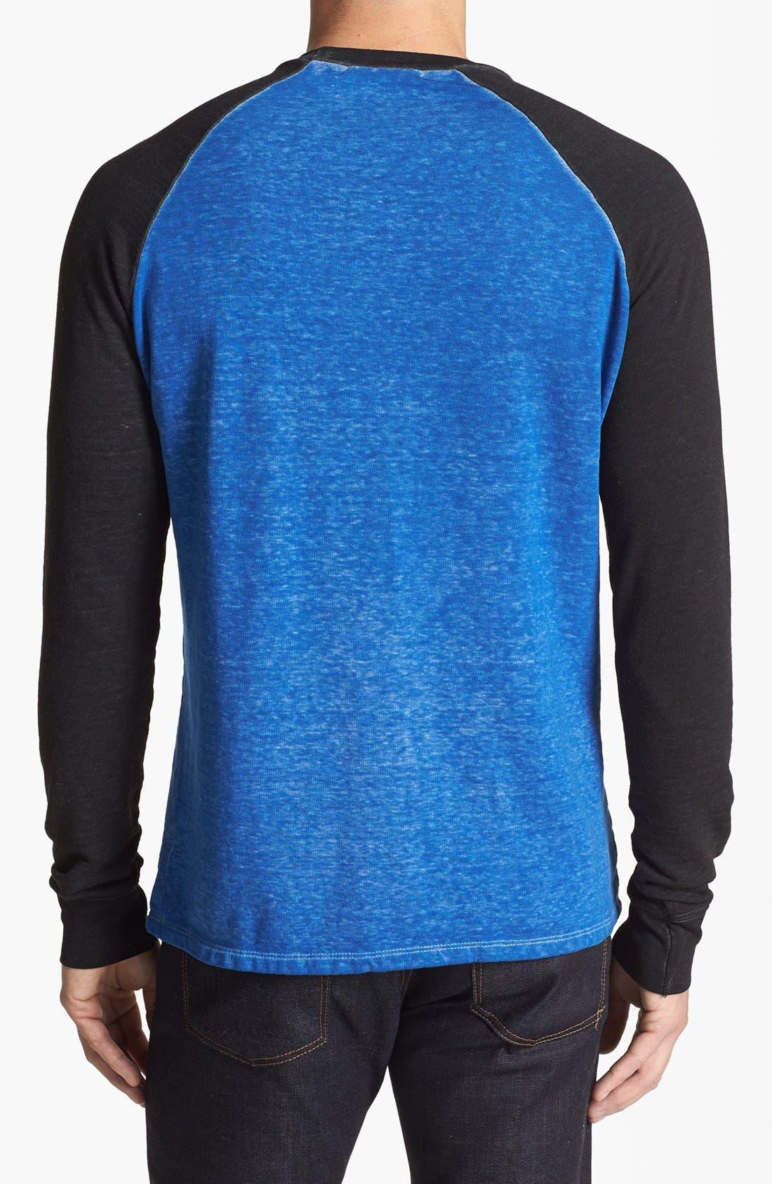 Washed Raglan Sleeve Sweatshirt,                             Alternate thumbnail 18, color,