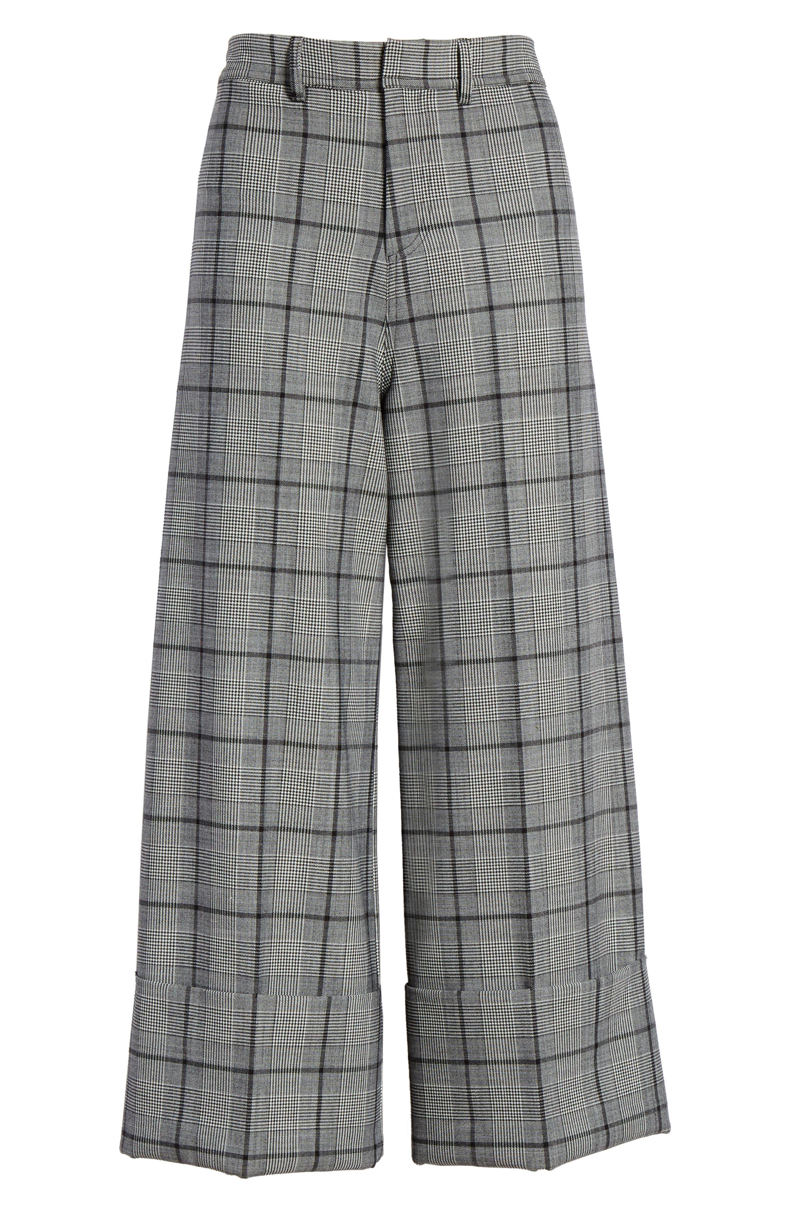 Bacall Cuff Crop Wide Leg Pants,                             Alternate thumbnail 6, color,                             028
