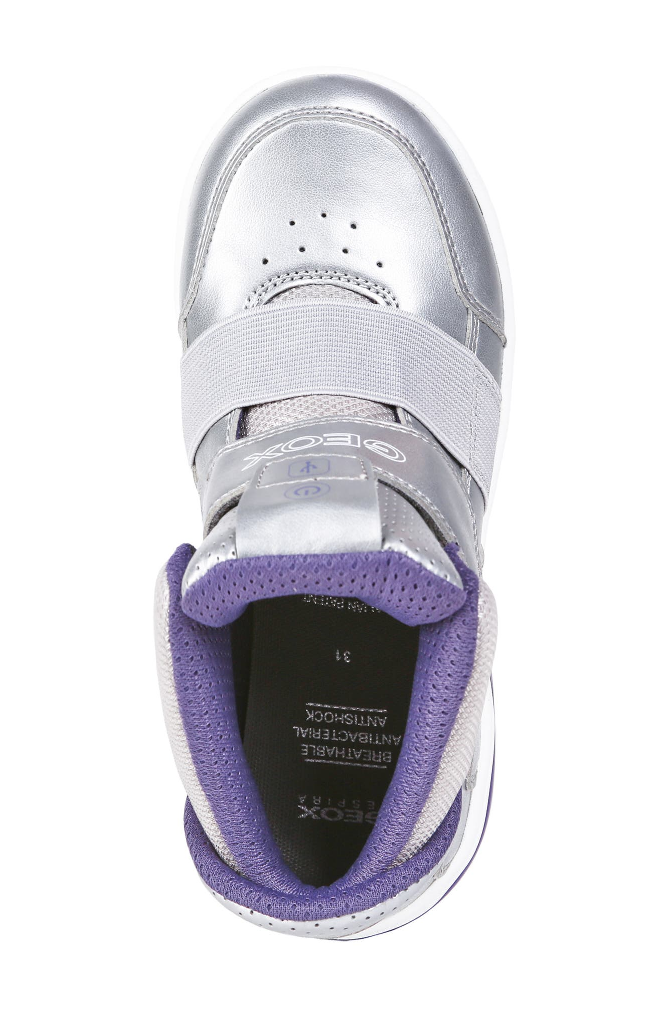 Xled Light Up Sneaker,                             Alternate thumbnail 5, color,                             SILVER/ VIOLET