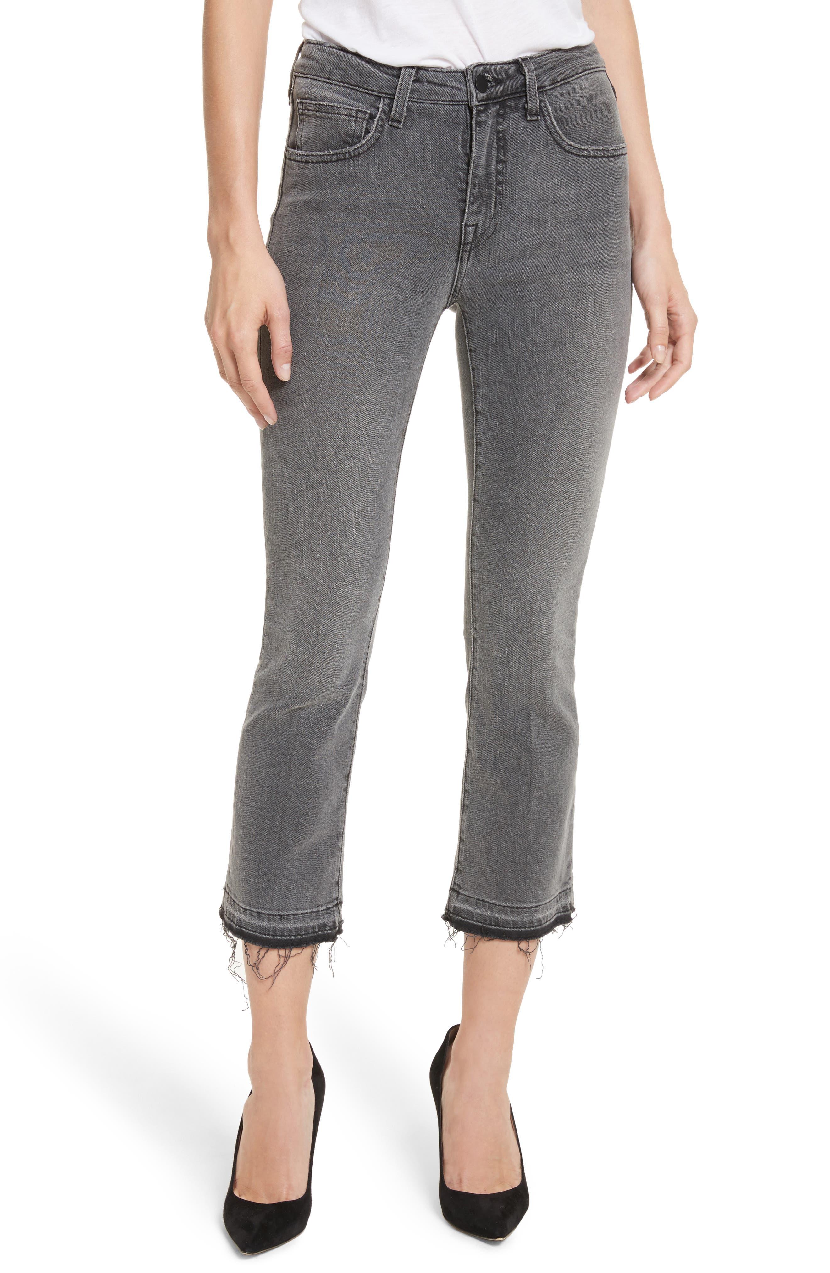 Serena High Waist Crop Flare Jeans,                             Main thumbnail 1, color,