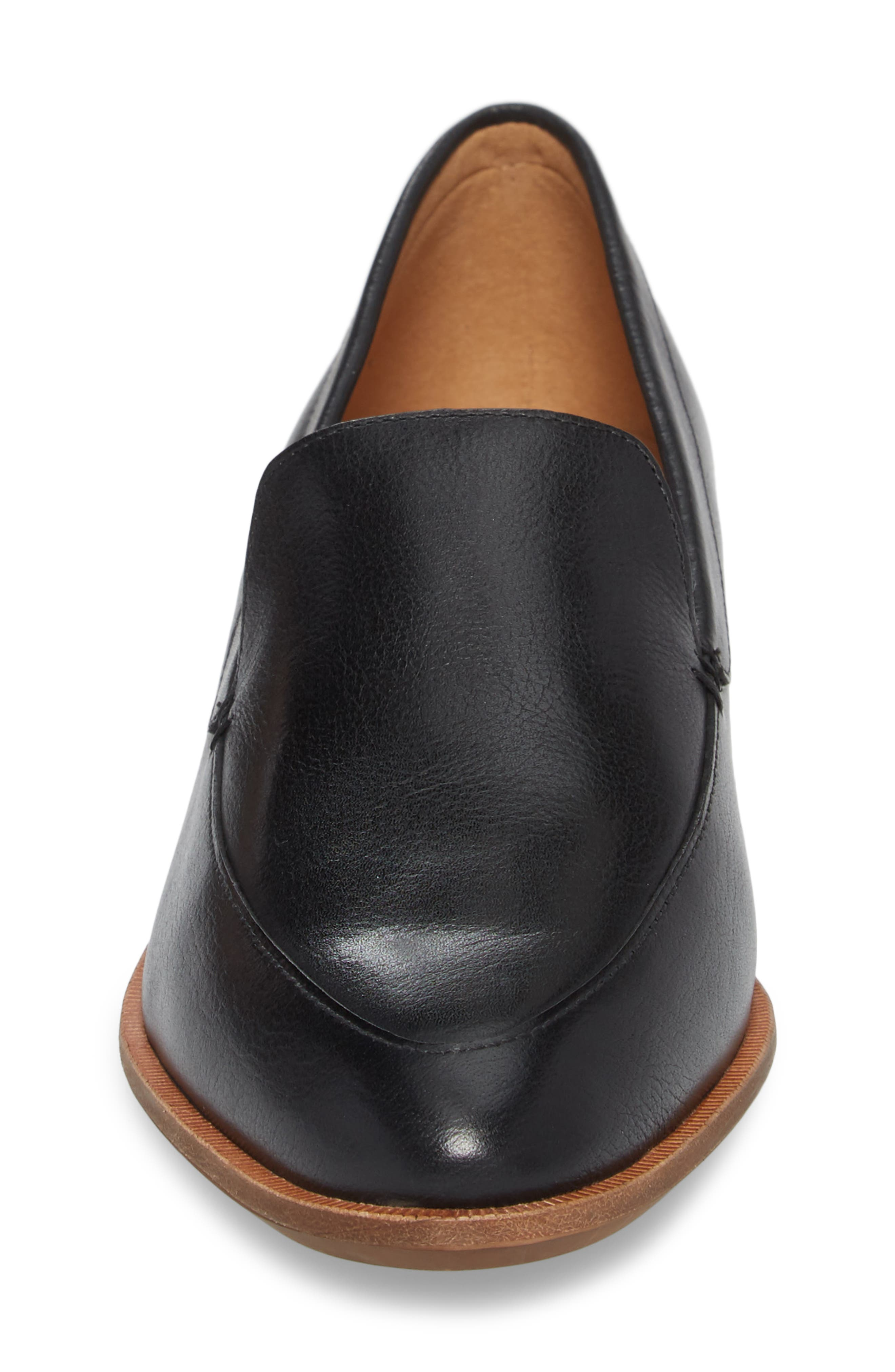 MADEWELL,                             The Frances Loafer,                             Alternate thumbnail 4, color,                             TRUE BLACK LEATHER