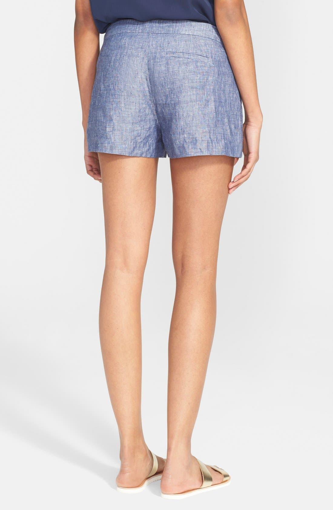 'Merci' Linen Shorts,                             Alternate thumbnail 3, color,                             418