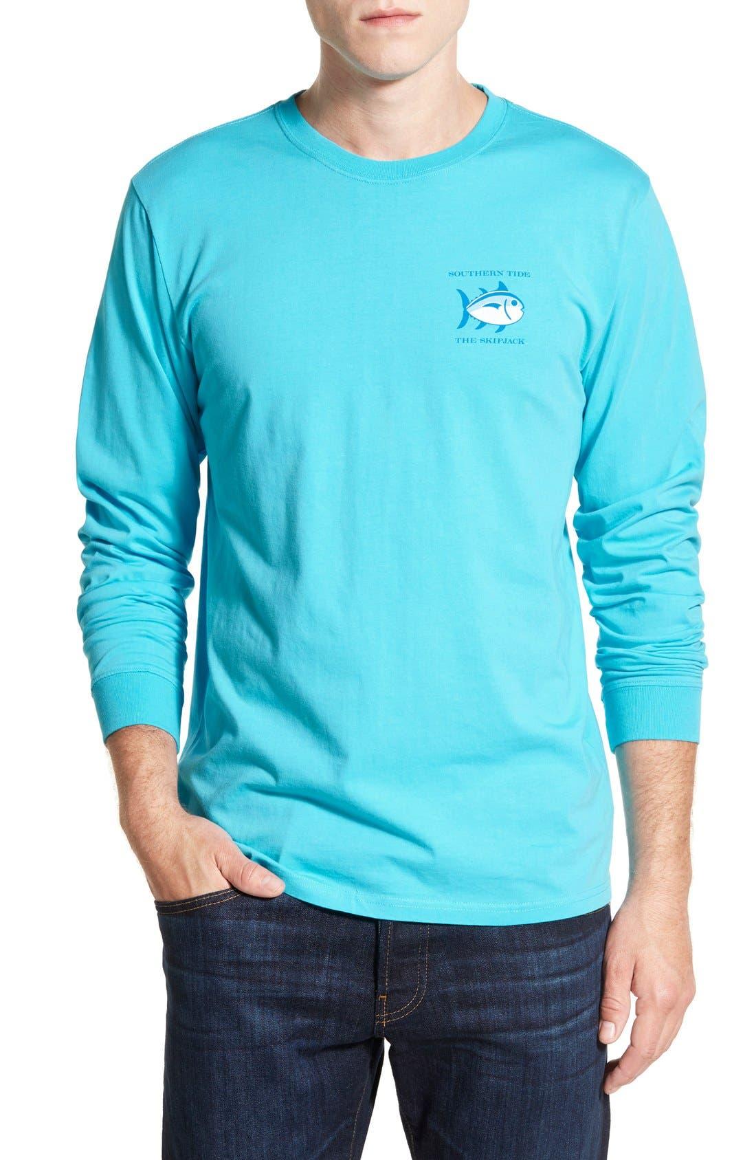 'Skipjack'Long Sleeve Graphic T-Shirt,                             Alternate thumbnail 51, color,
