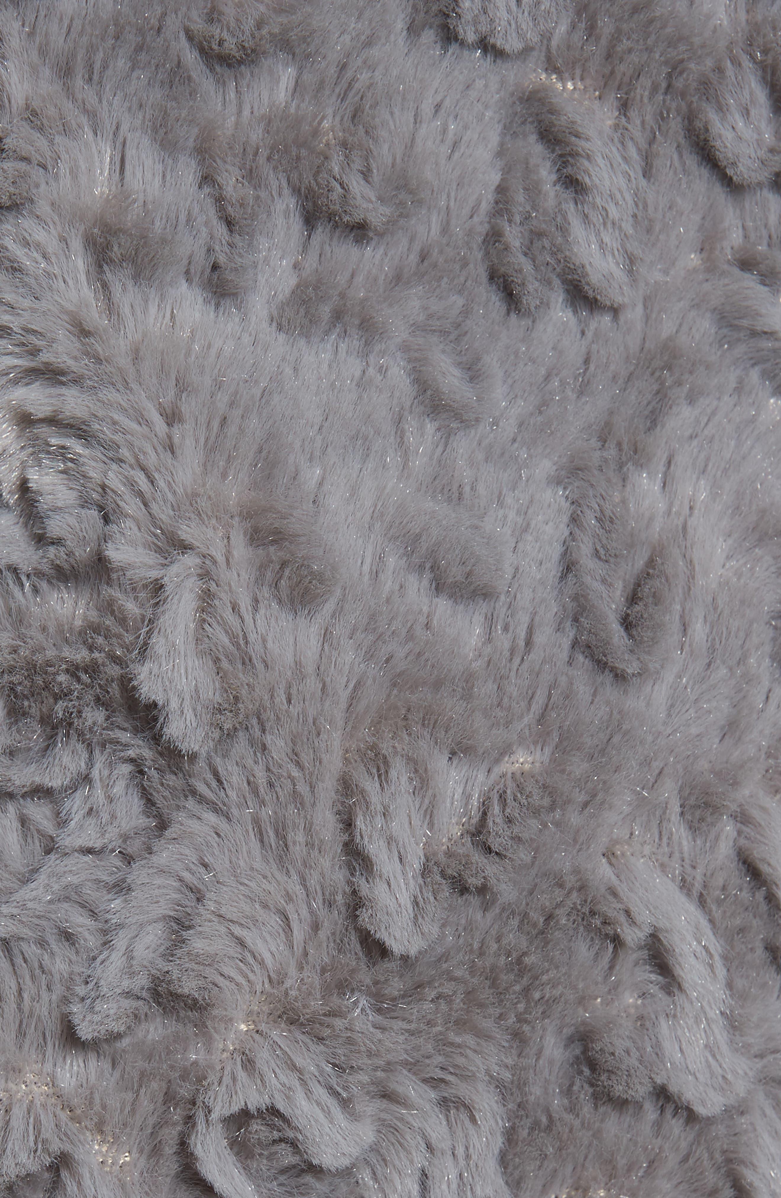 Faux Fur Coat,                             Alternate thumbnail 6, color,                             030