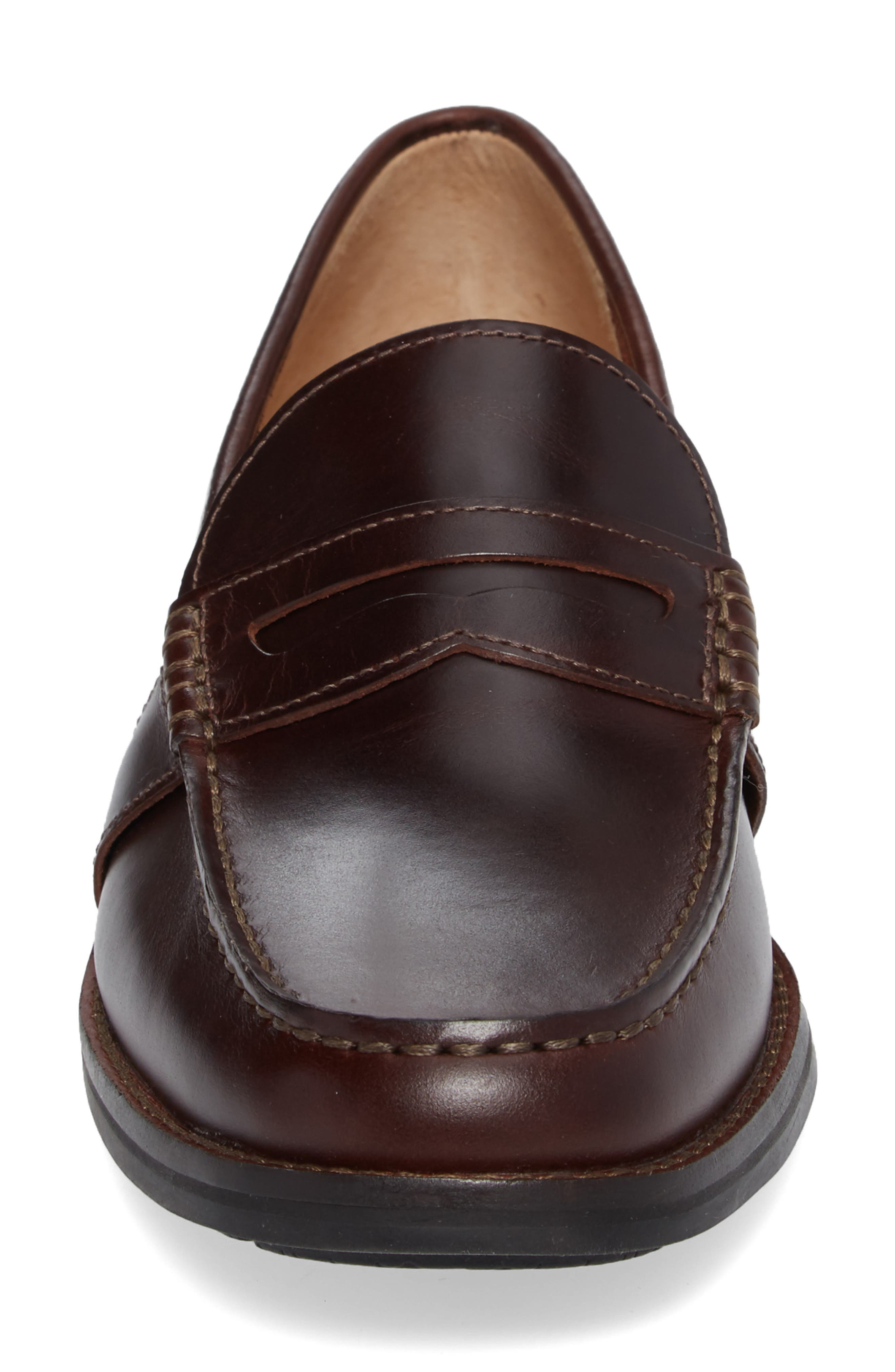 Essex Penny Loafer,                             Alternate thumbnail 4, color,                             AMARETTO LEATHER
