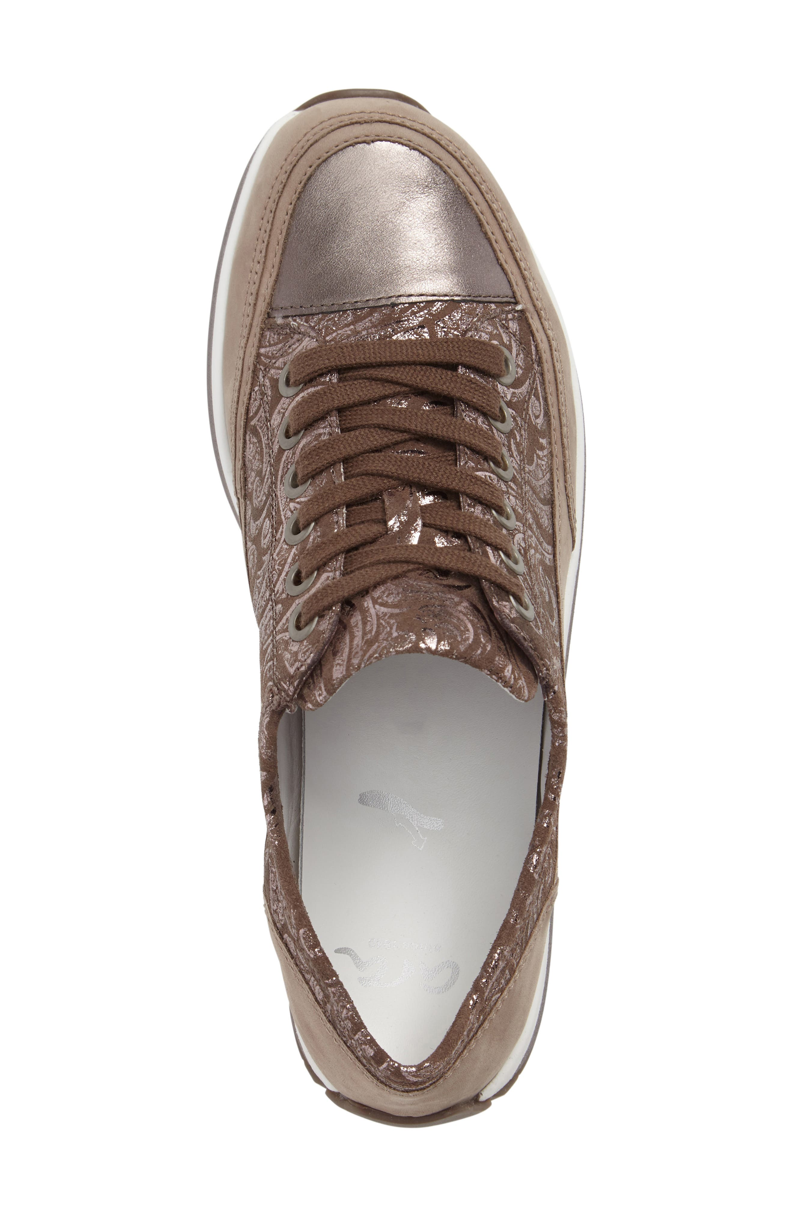 Hermione Sneaker,                             Alternate thumbnail 5, color,                             TAUPE COMBO LEATHER