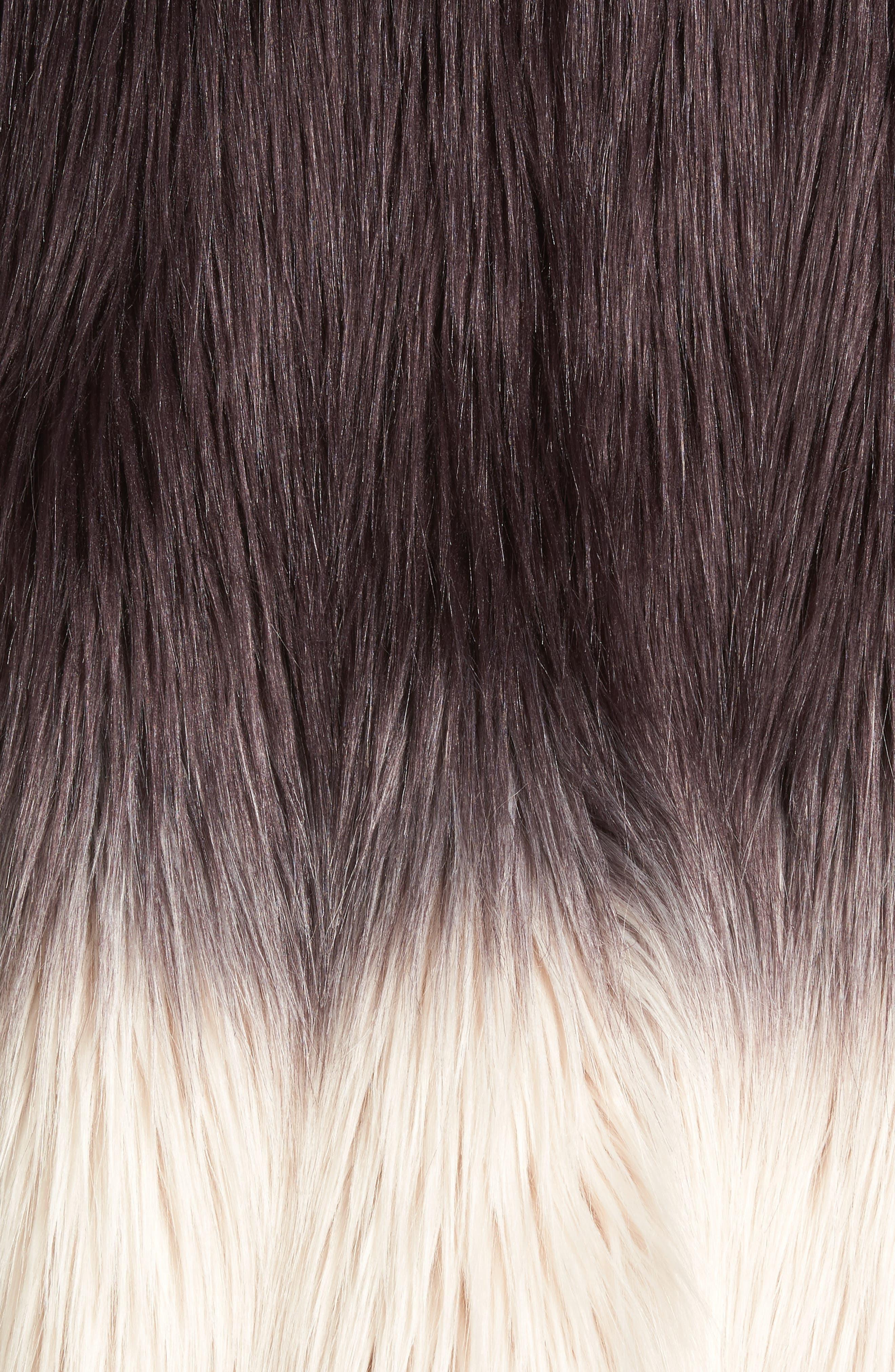 Faux Fur Jacket,                             Alternate thumbnail 6, color,                             501