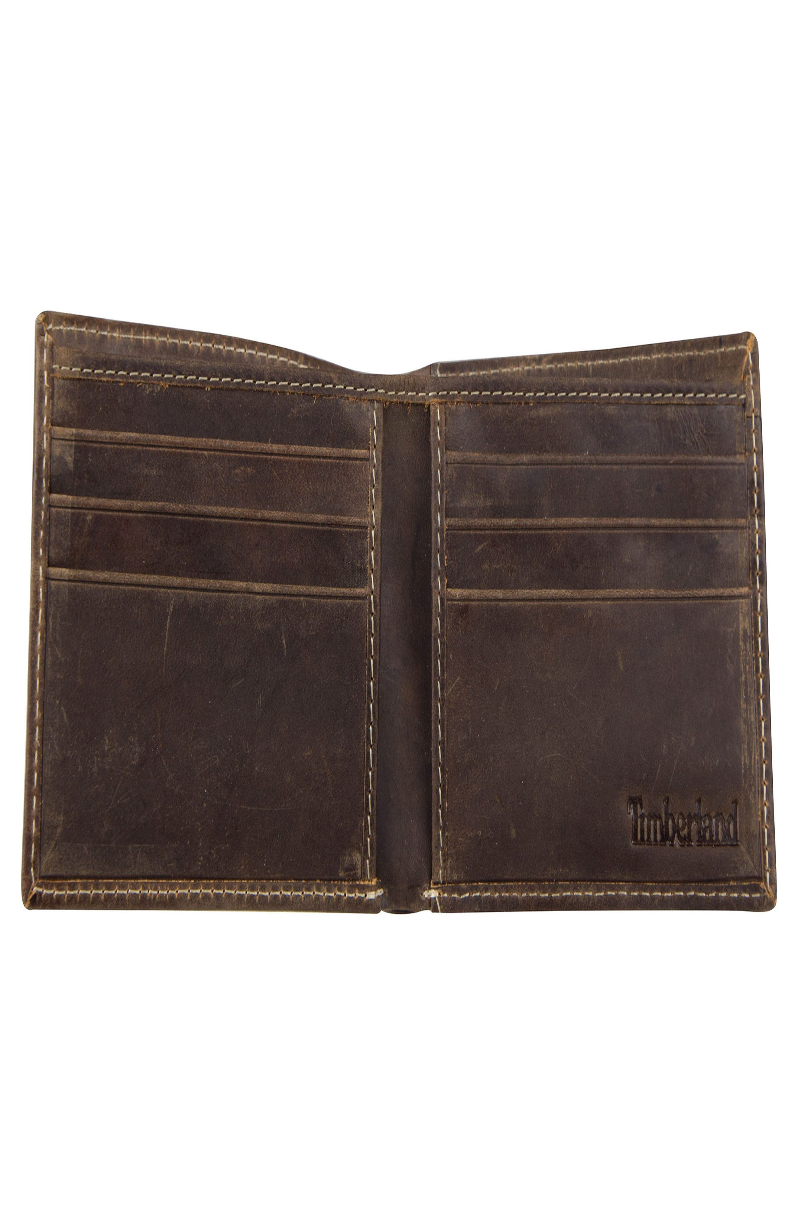 TIMBERLAND,                             Distressed Leather Wallet,                             Alternate thumbnail 2, color,                             200