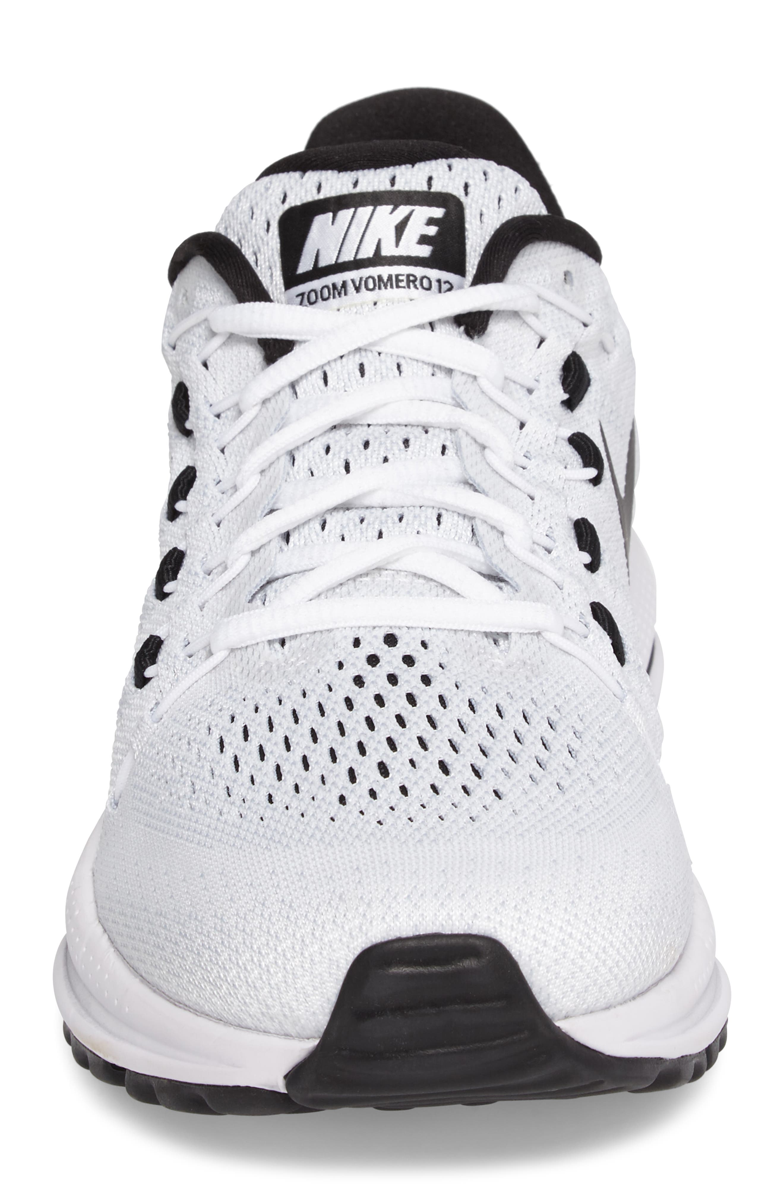 NIKE,                             Air Zoom Vomero 12 Running Shoe,                             Alternate thumbnail 4, color,                             100