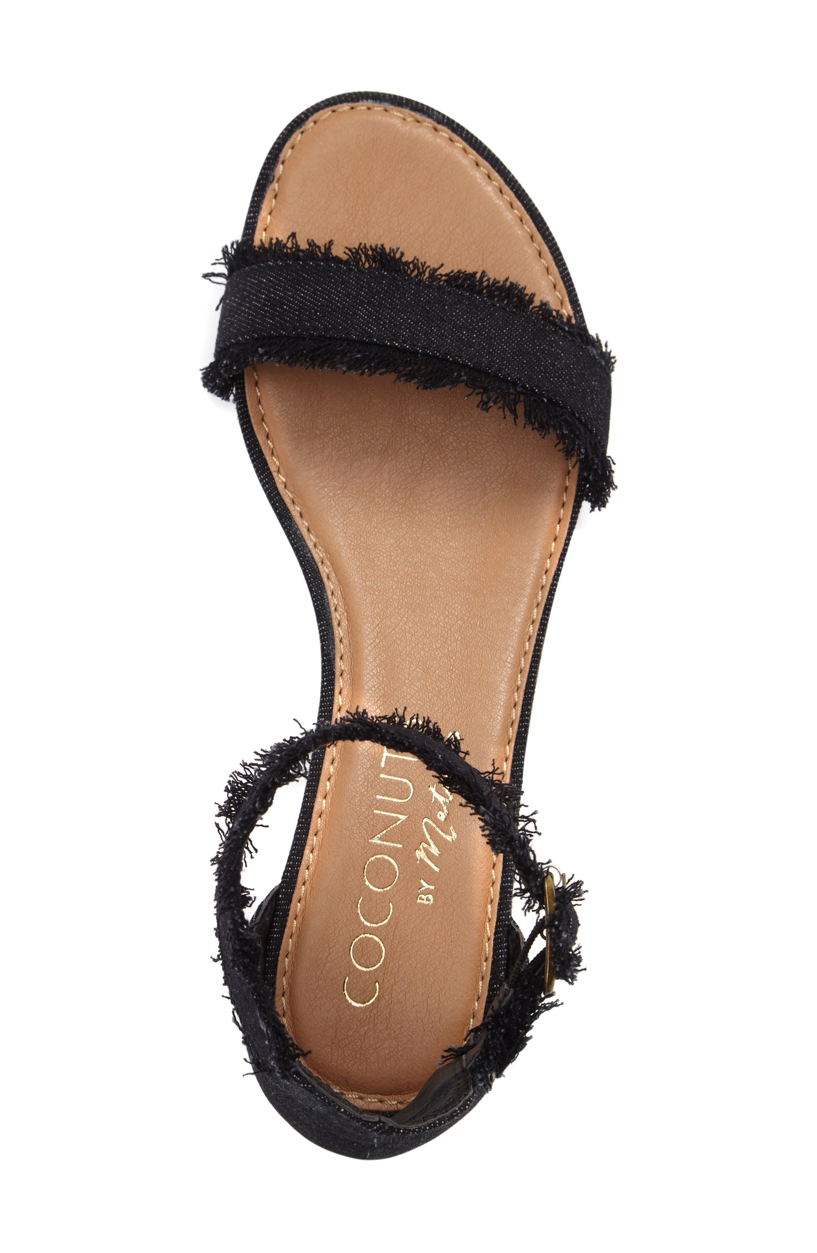 Coconuts by Matisse Fly Ankle Strap Sandal,                             Alternate thumbnail 3, color,                             002