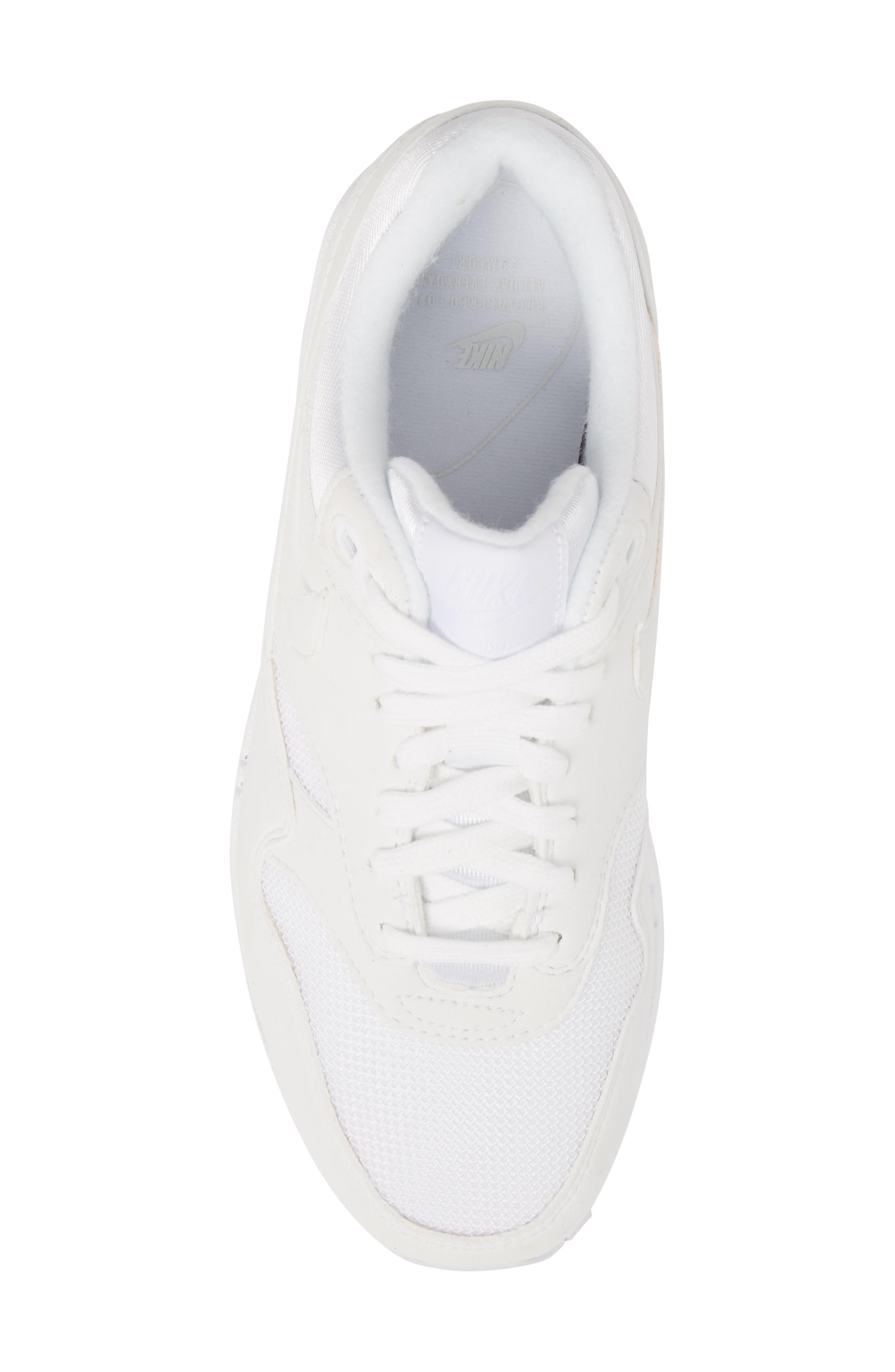 'Air Max 1 ND' Sneaker,                             Alternate thumbnail 5, color,                             WHITE/ WHITE/ PURE PLATINUM