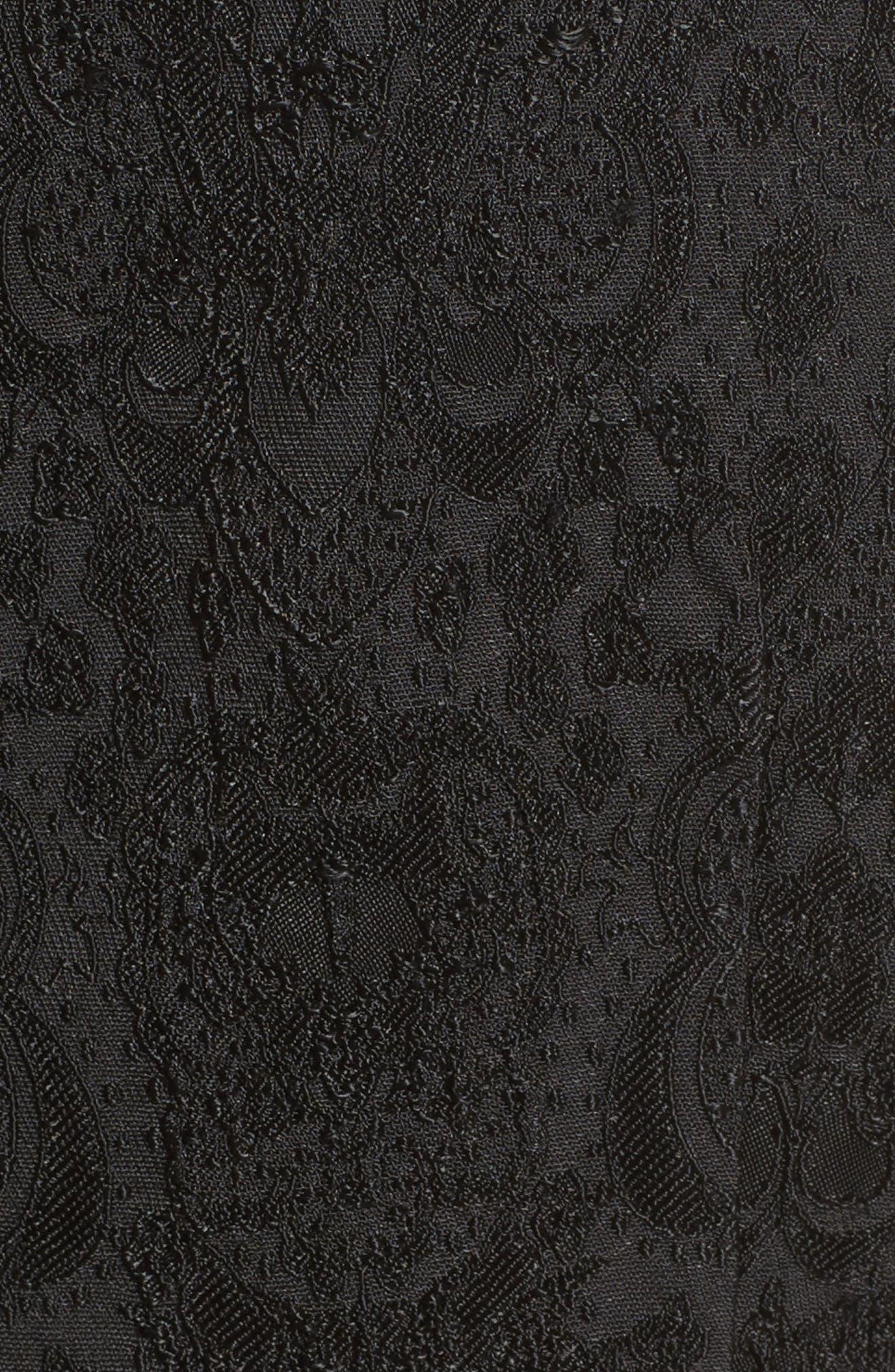 Embellished Jacquard Peplum Top,                             Alternate thumbnail 5, color,                             001