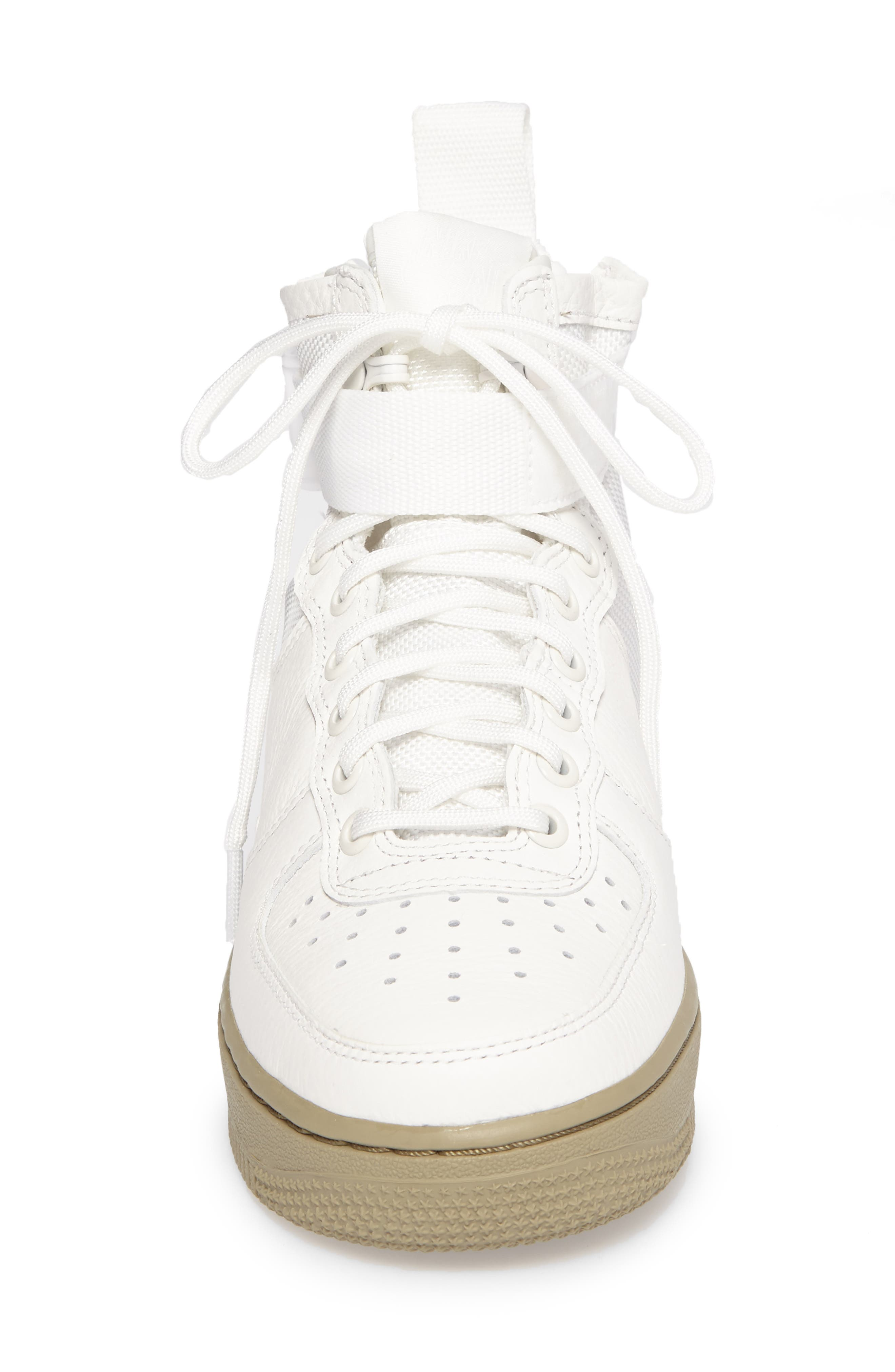 SF Air Force 1 Mid Sneaker,                             Alternate thumbnail 4, color,                             IVORY/IVORY-MARS STONE