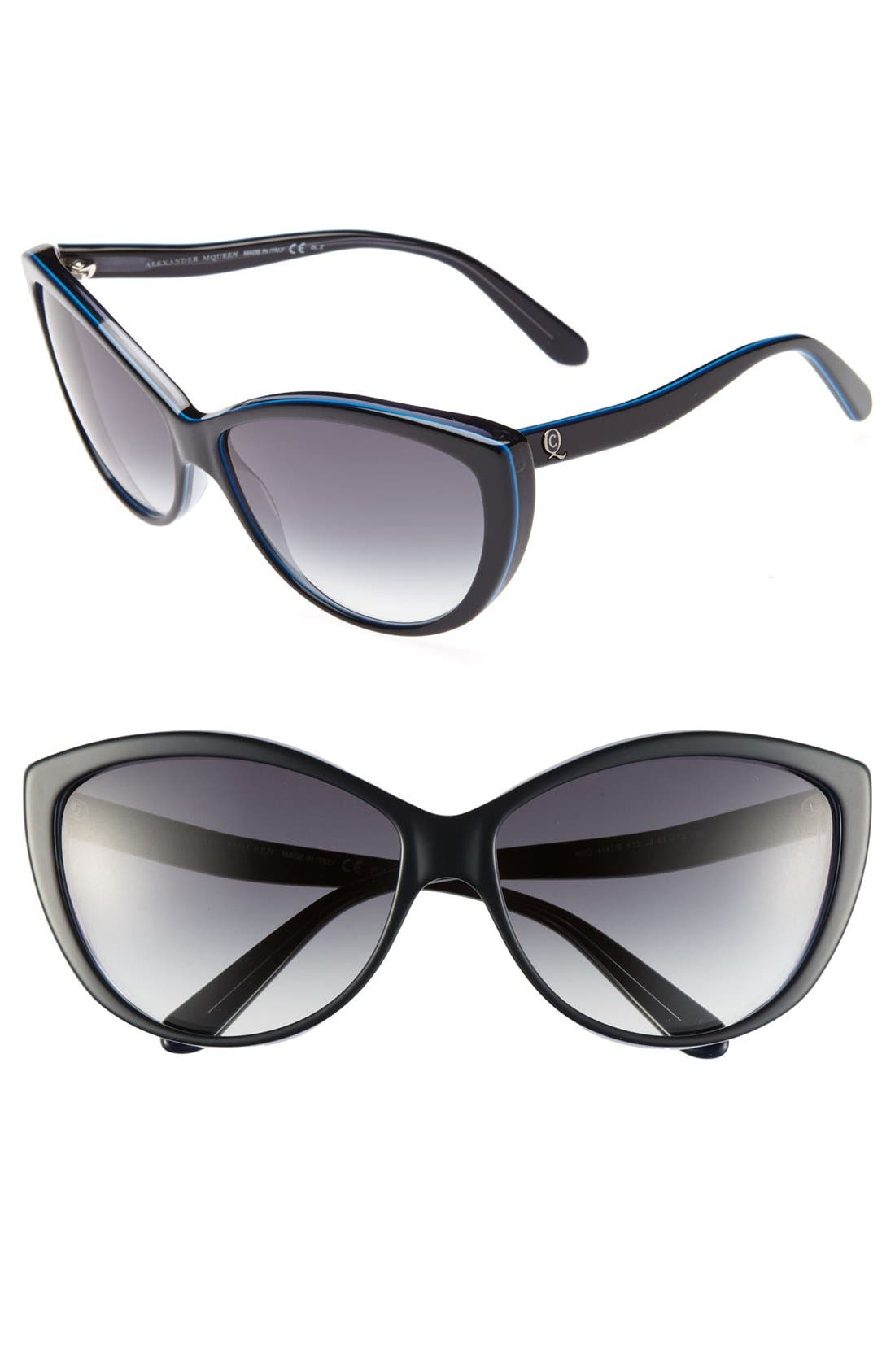 61mm Two-Tone Cat Eye Sunglasses,                             Main thumbnail 8, color,