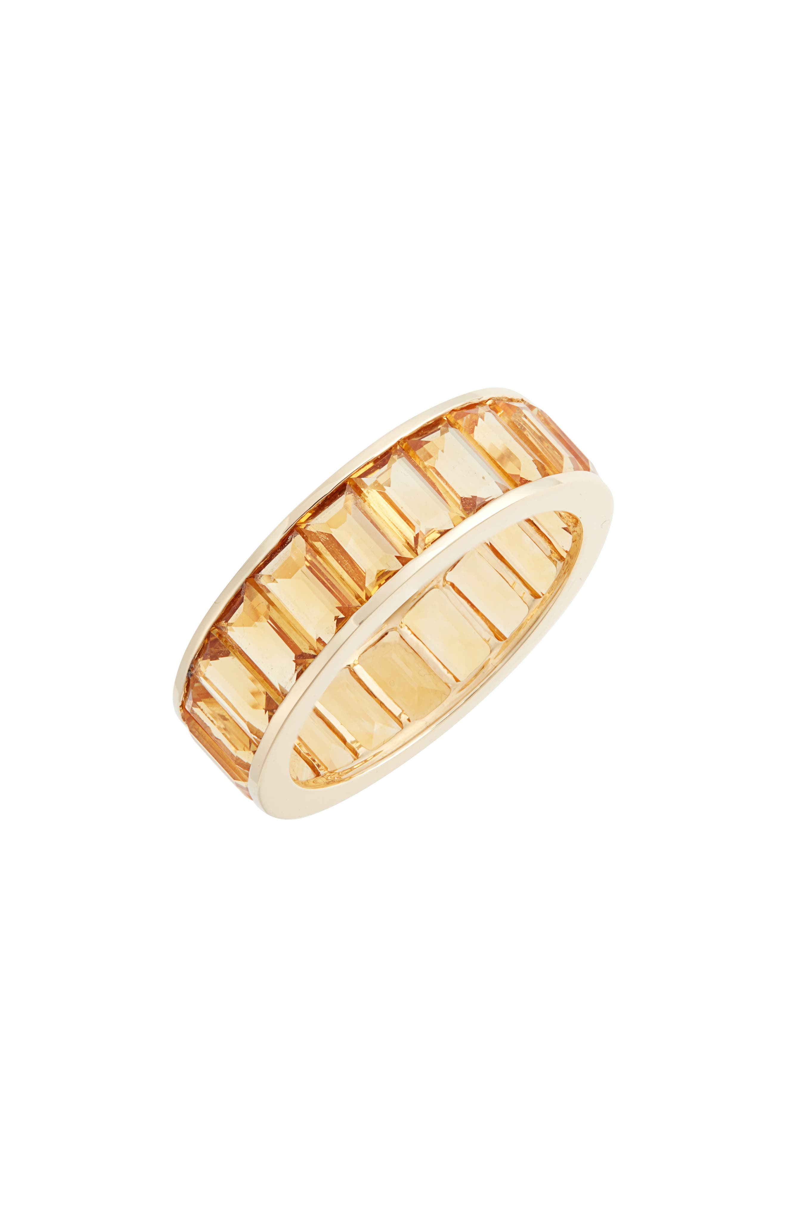 Citrine Eternity Band Color Ring,                             Main thumbnail 1, color,                             YELLOW GOLD/ CITRINE