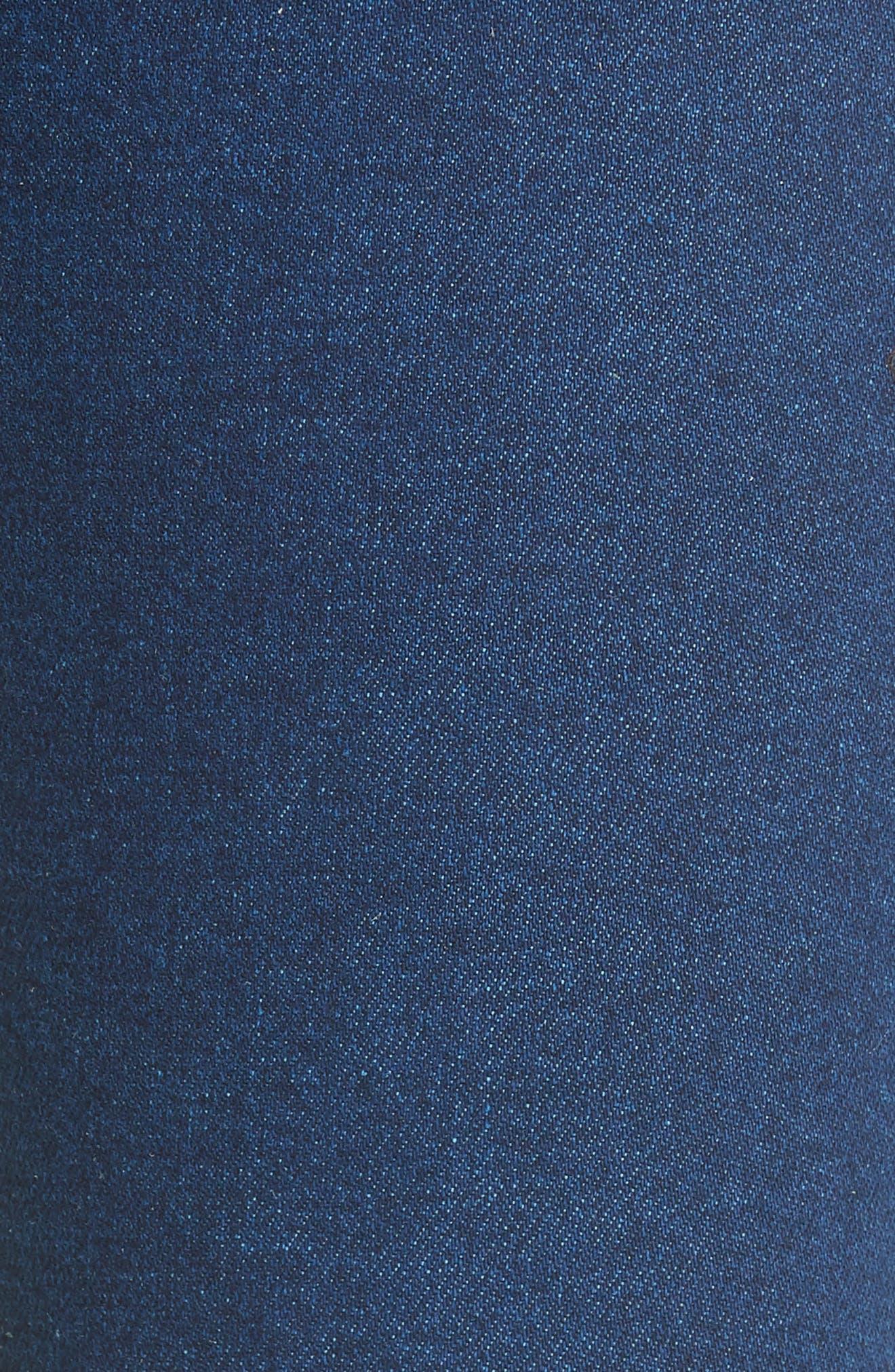 Contrast Circle Stitch Jeans,                             Alternate thumbnail 5, color,                             400