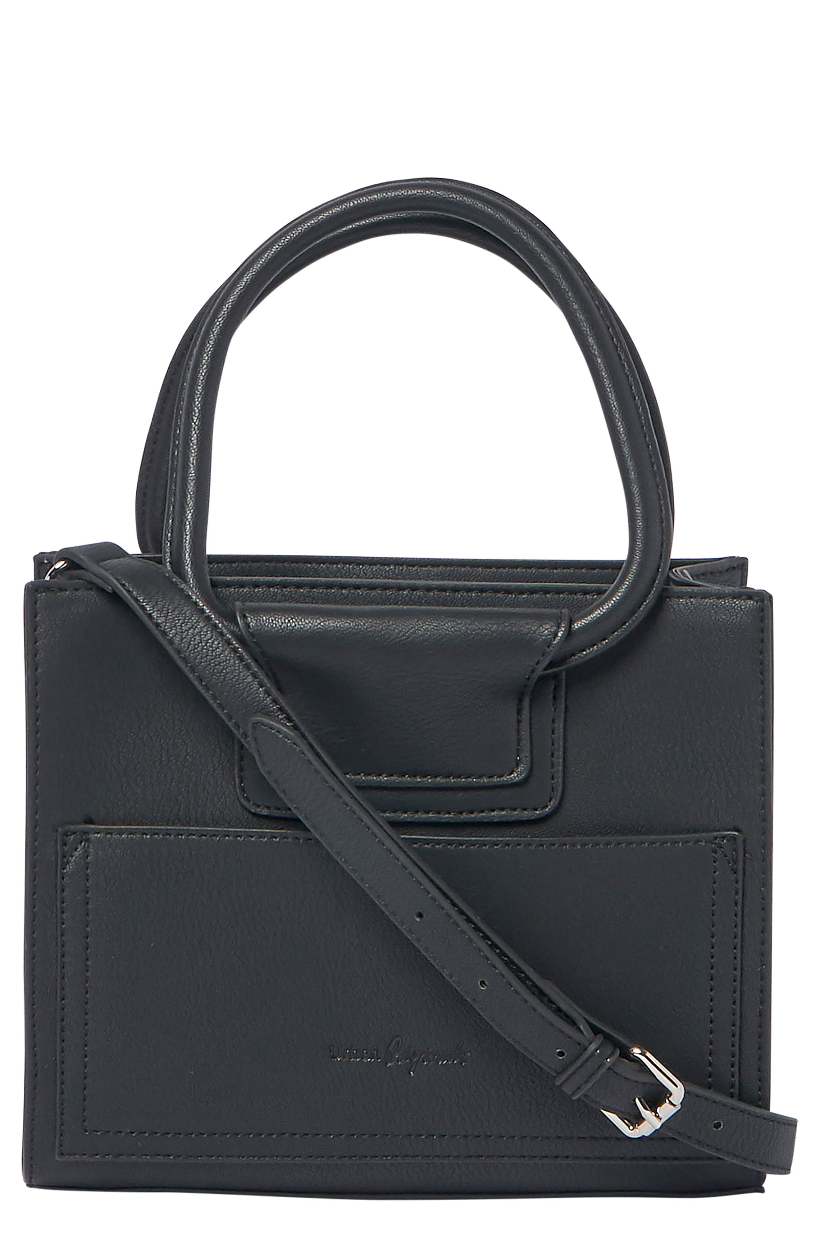 I Need You Vegan Leather Satchel, Main, color, BLACK