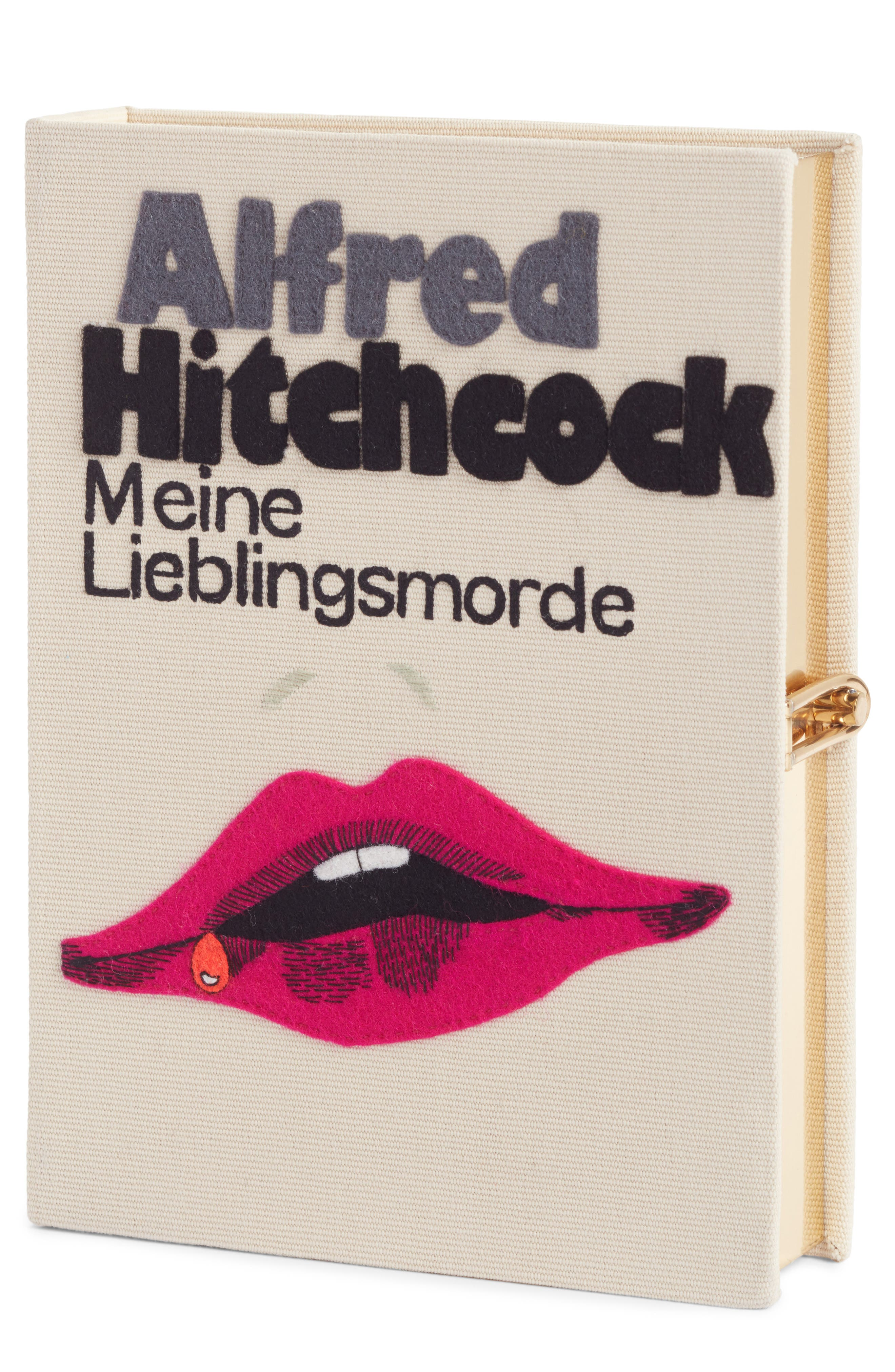 Hitchcock - 'Meine Lieblingsmorde' Book Clutch,                             Main thumbnail 1, color,                             900