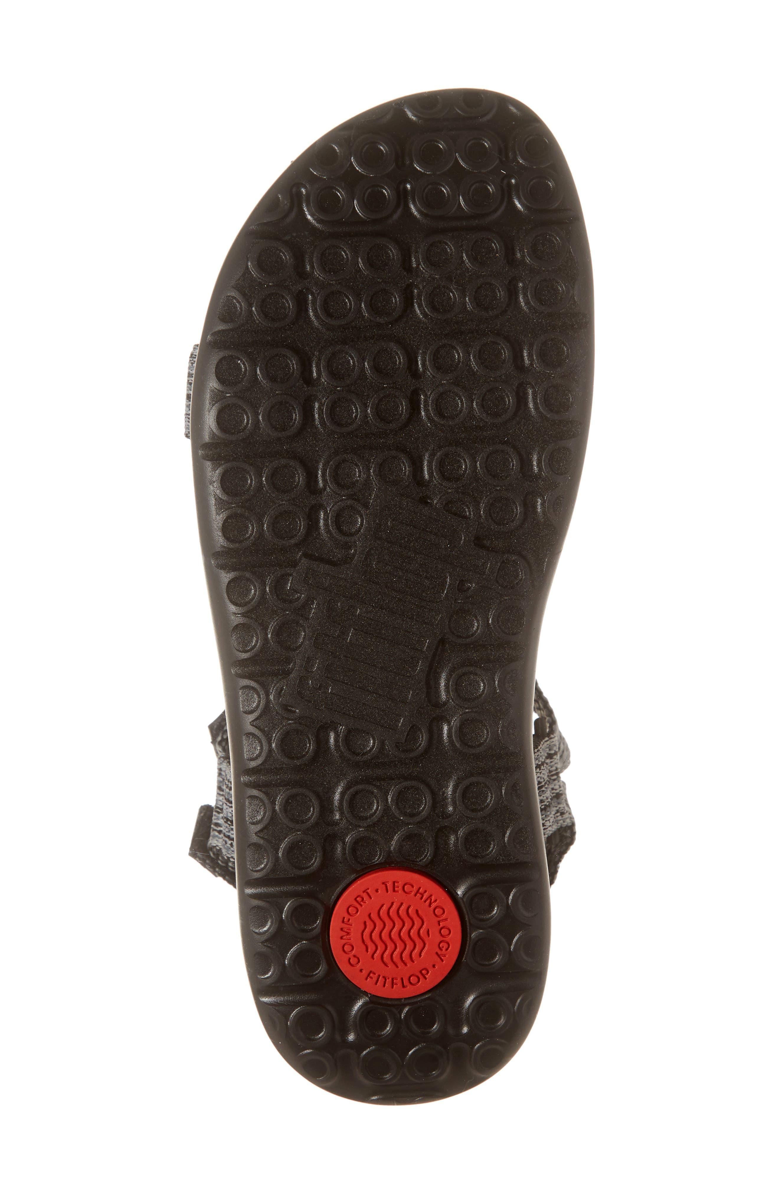 Freshweave Sport Sandal,                             Alternate thumbnail 6, color,                             BLACK KNIT