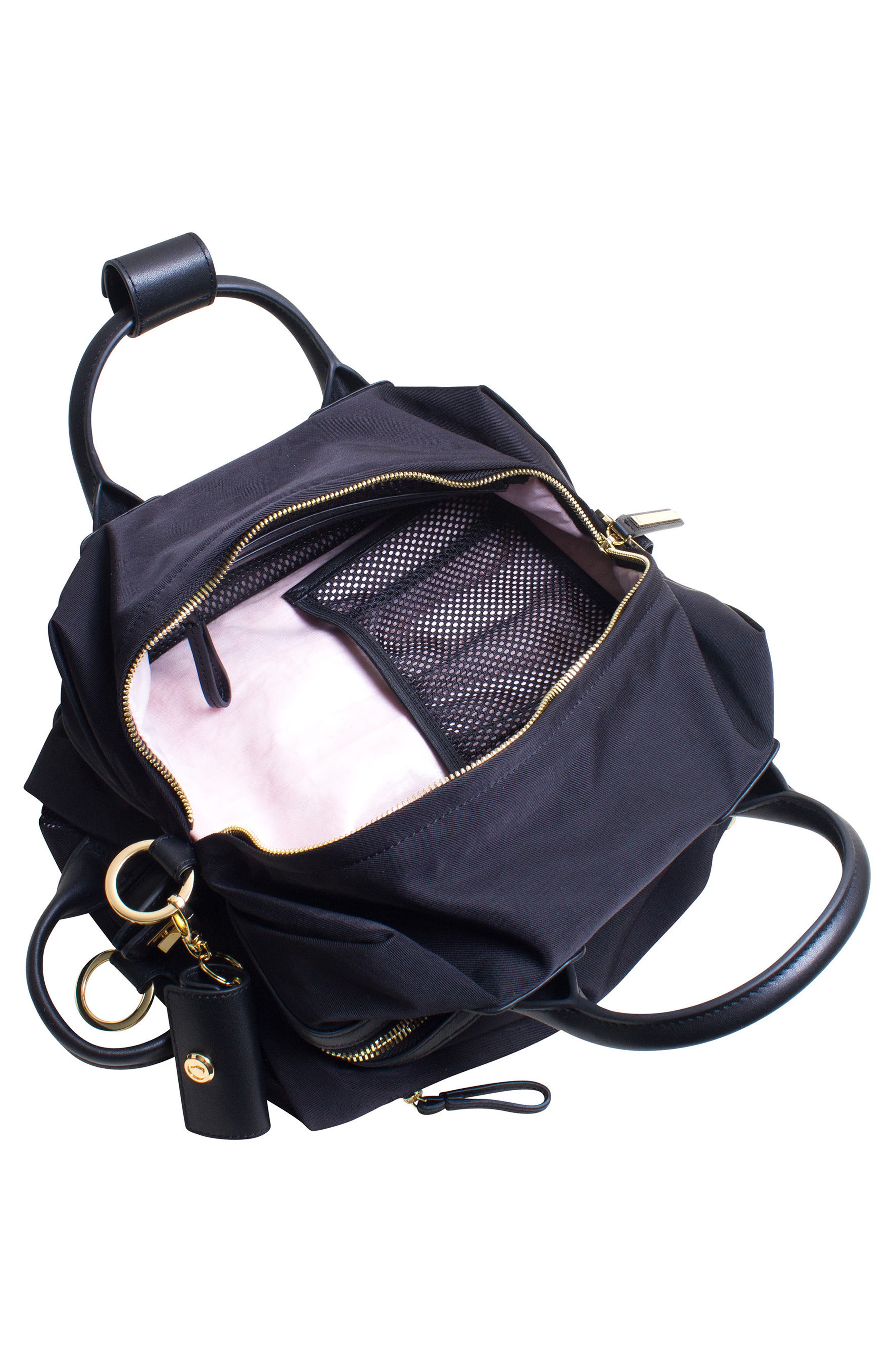 Studio Duffel Backpack,                             Alternate thumbnail 8, color,                             BLACK/ GOLD