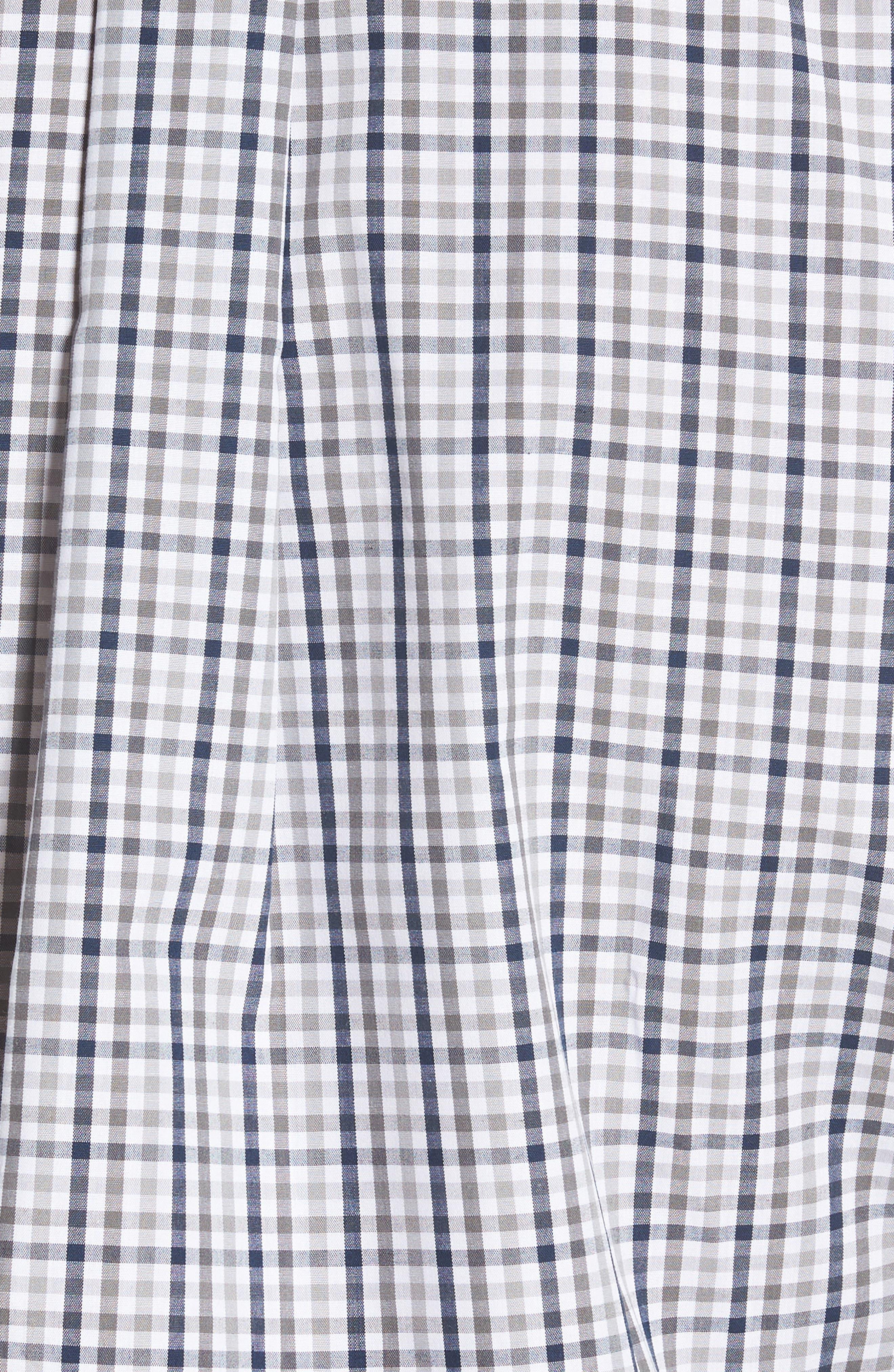 Seattle Seahawks - Gilman Regular Fit Plaid Sport Shirt,                             Alternate thumbnail 5, color,                             LIBERTY NAVY