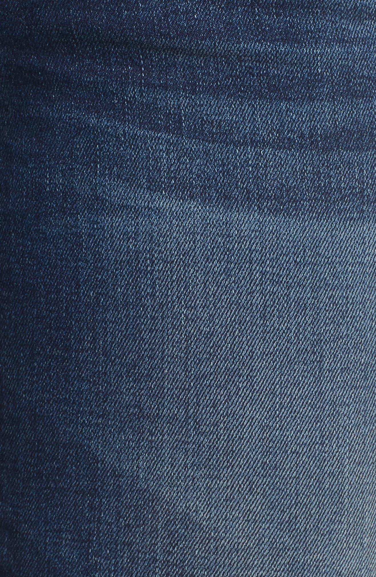 Emma Rose Embroidered Step Hem Jeans,                             Alternate thumbnail 5, color,                             400