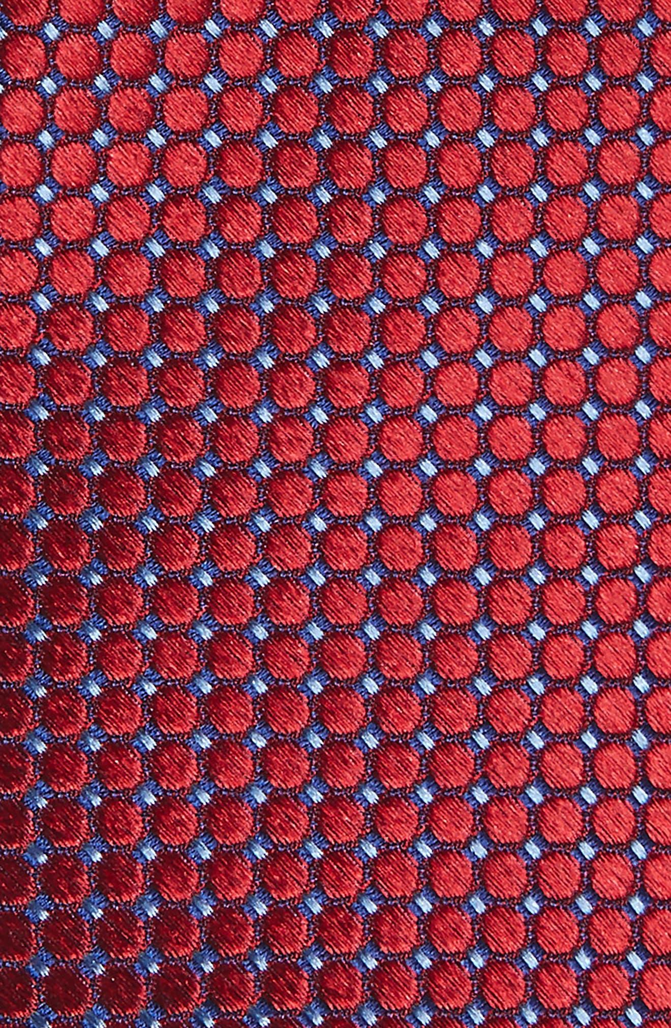 Neat Grid Silk Tie,                             Alternate thumbnail 2, color,                             600
