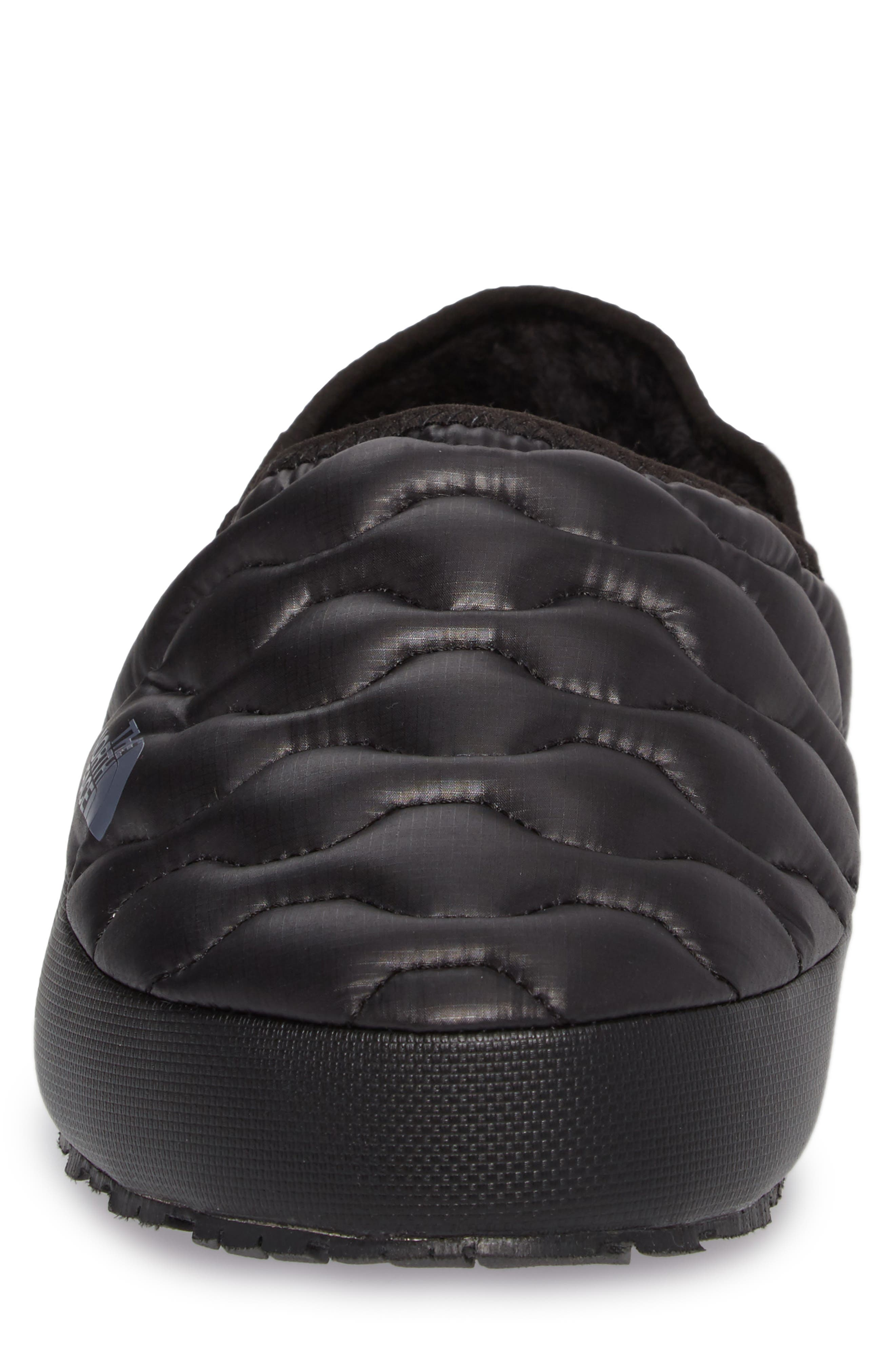ThermoBall<sup>™</sup> Water-Resistant Traction slipper,                             Alternate thumbnail 4, color,                             SHINY BLACK/ DARK GREY