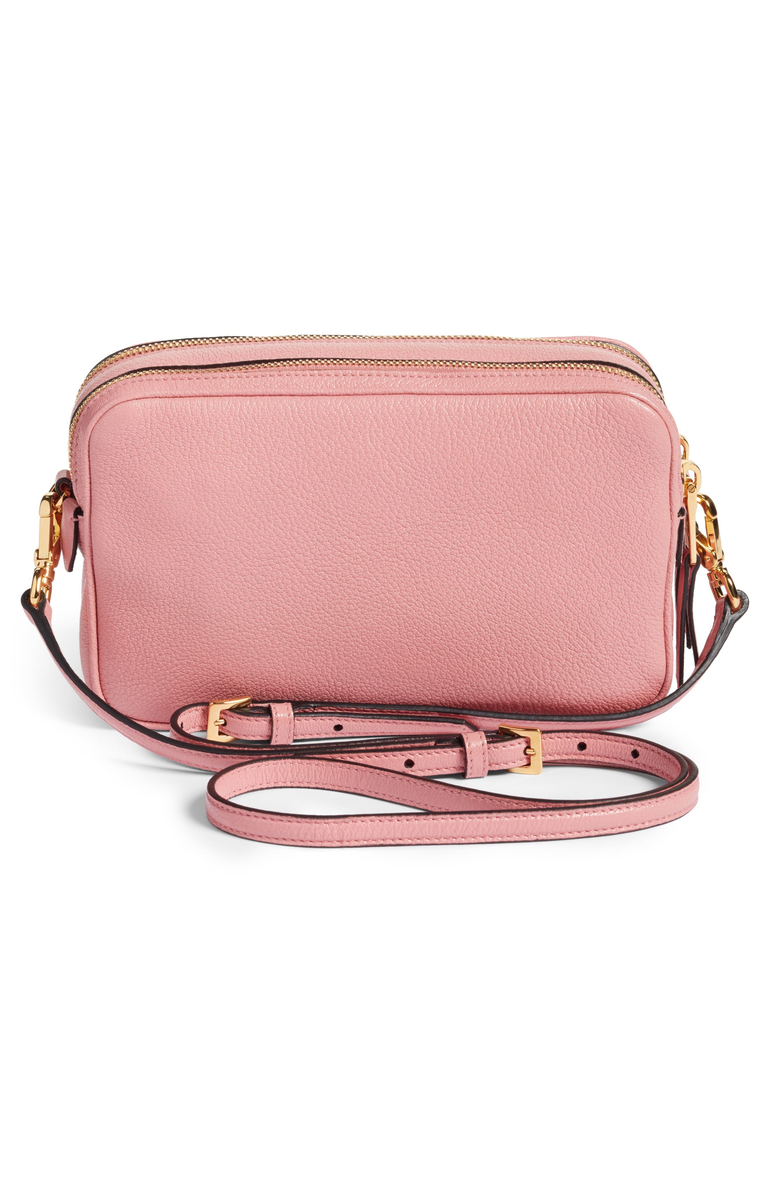 Madras Goatskin Leather Crossbody Bag,                             Alternate thumbnail 3, color,