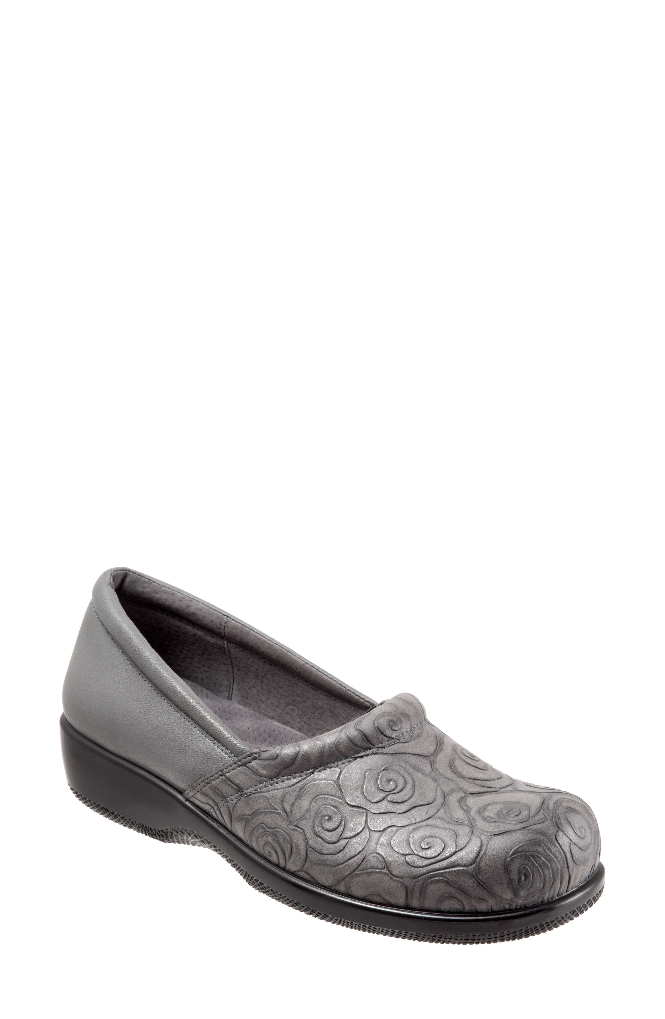 'Adora' Slip-On,                             Alternate thumbnail 6, color,                             GREY ROSE LEATHER