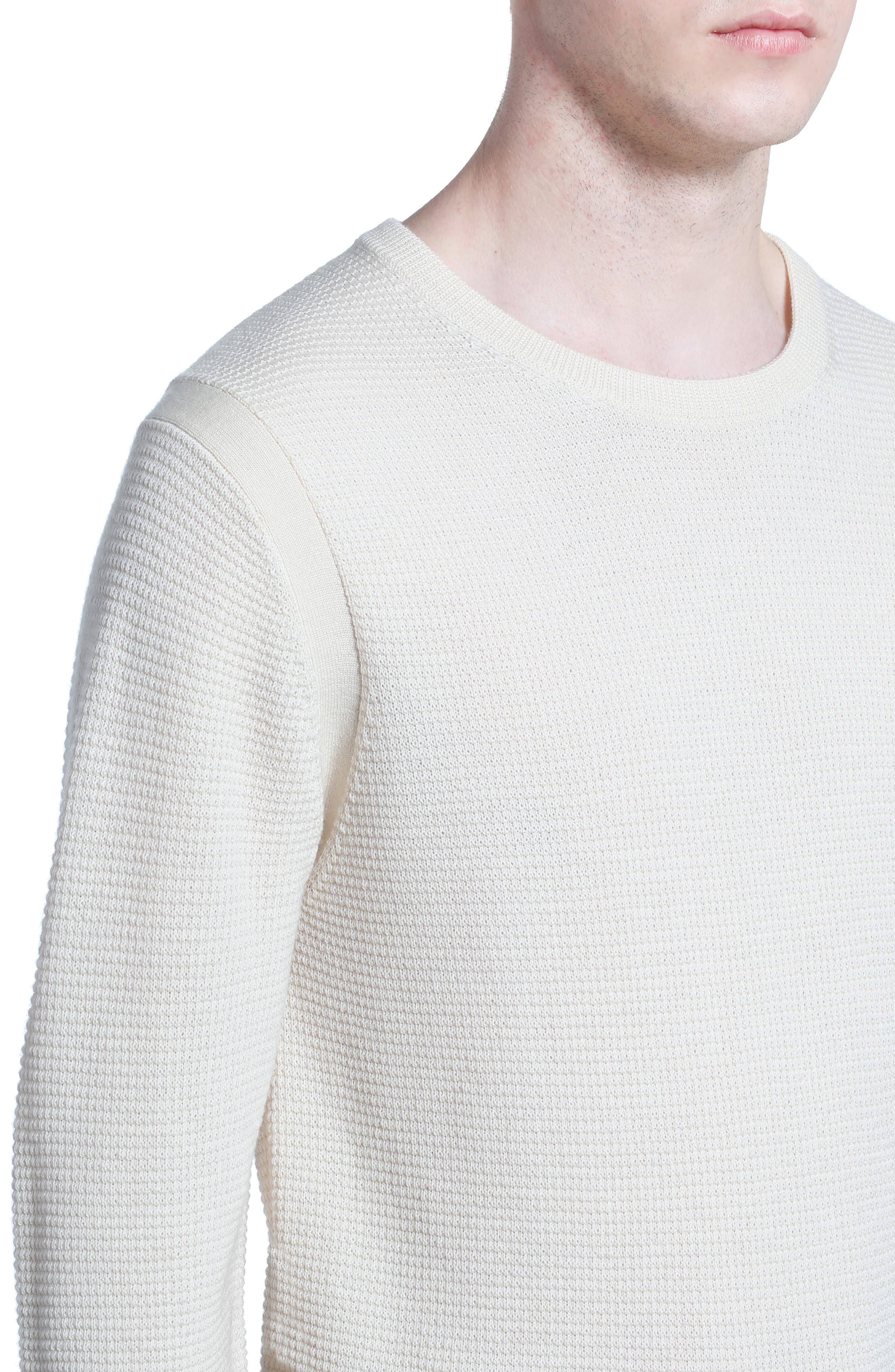 Merino Waffle Knit Wool Sweater,                             Alternate thumbnail 4, color,
