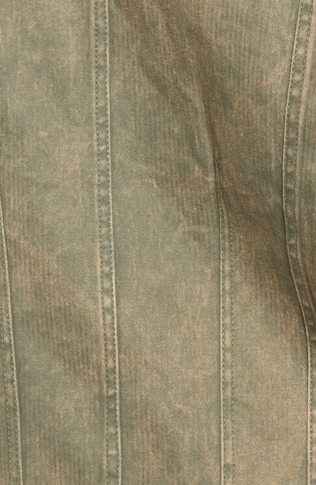 Contrast Sleeve Twill Jacket,                             Alternate thumbnail 2, color,                             300