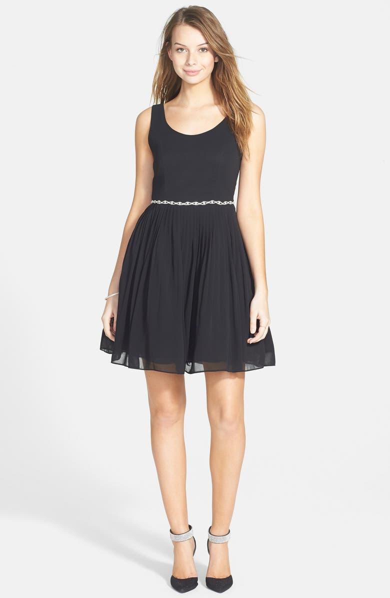 3a0f3e4bcb8 a. drea Embellished Waist Pleated Fit   Flare Dress (Juniors ...