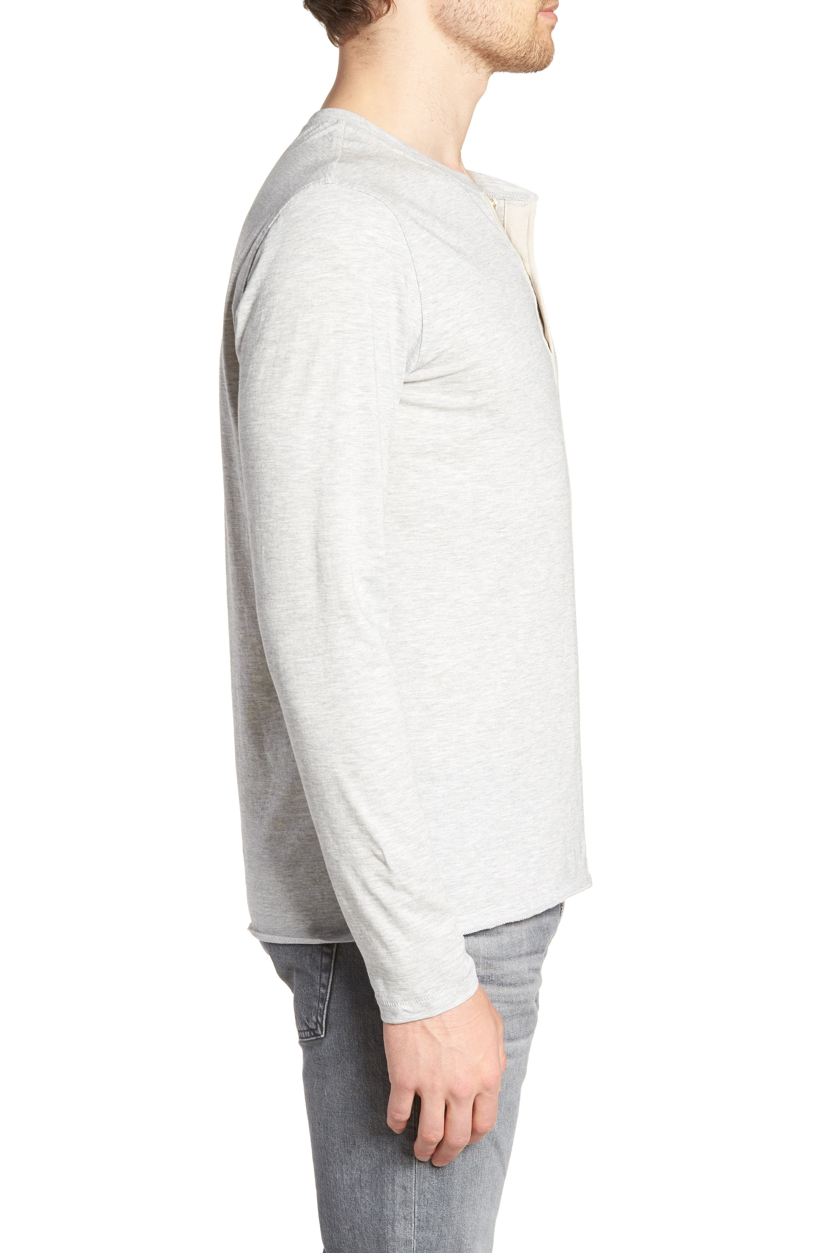 Hartford Slim Fit Henley,                             Alternate thumbnail 3, color,                             GREY
