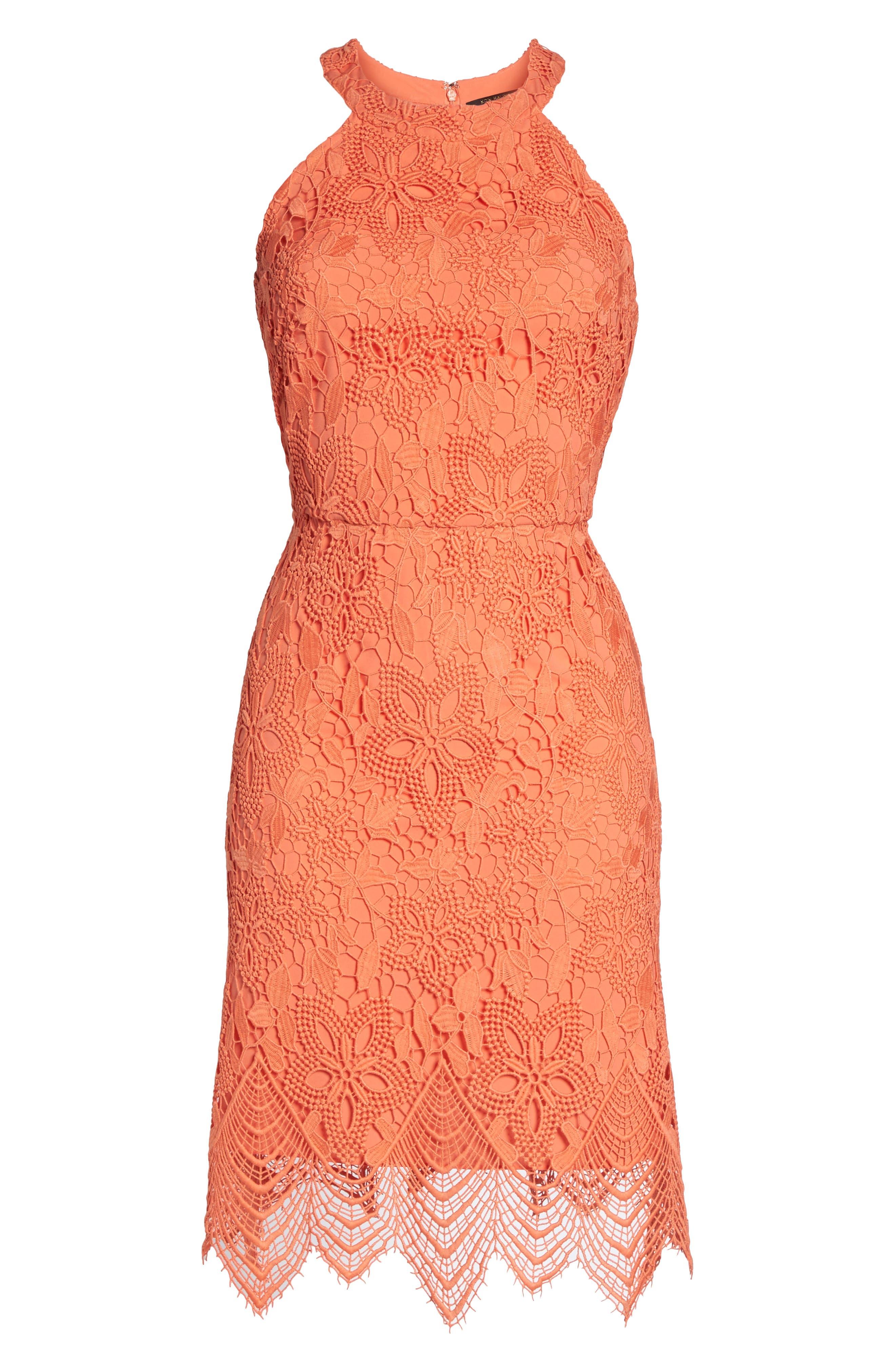 Isla Lace Halter Dress,                             Alternate thumbnail 12, color,
