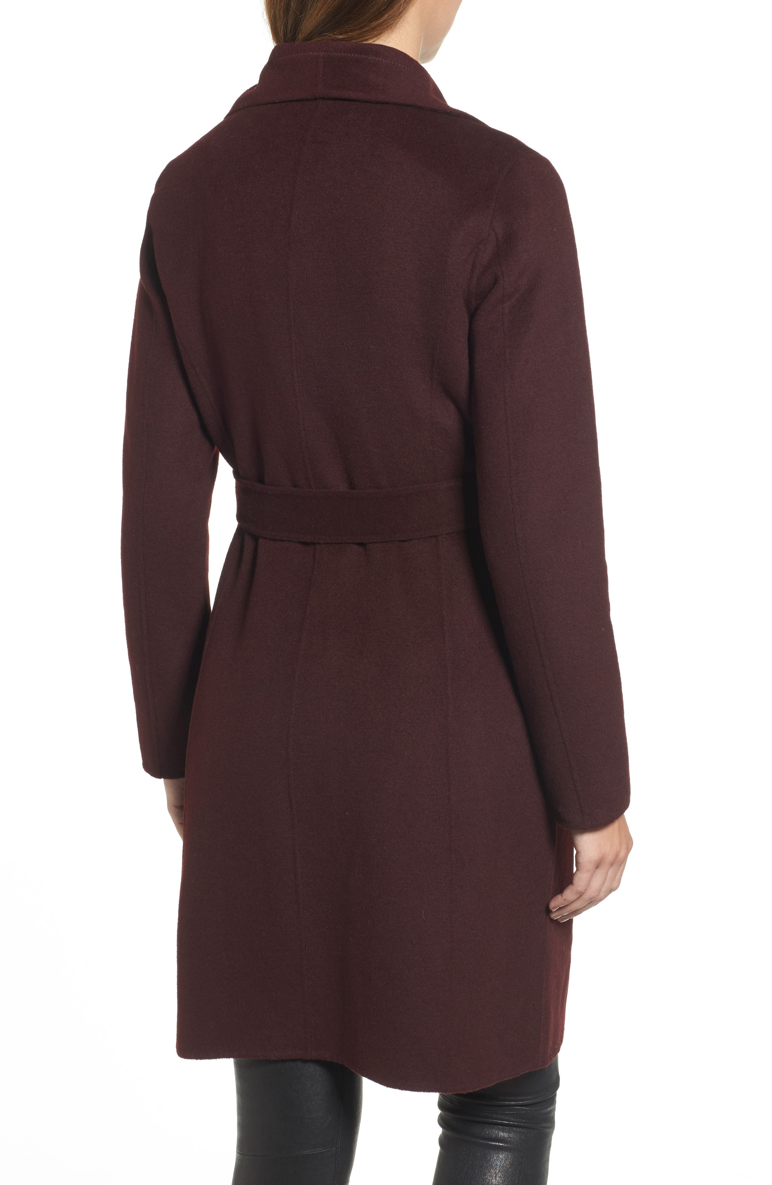 Ellie Double Face Wool Blend Wrap Coat,                             Alternate thumbnail 6, color,