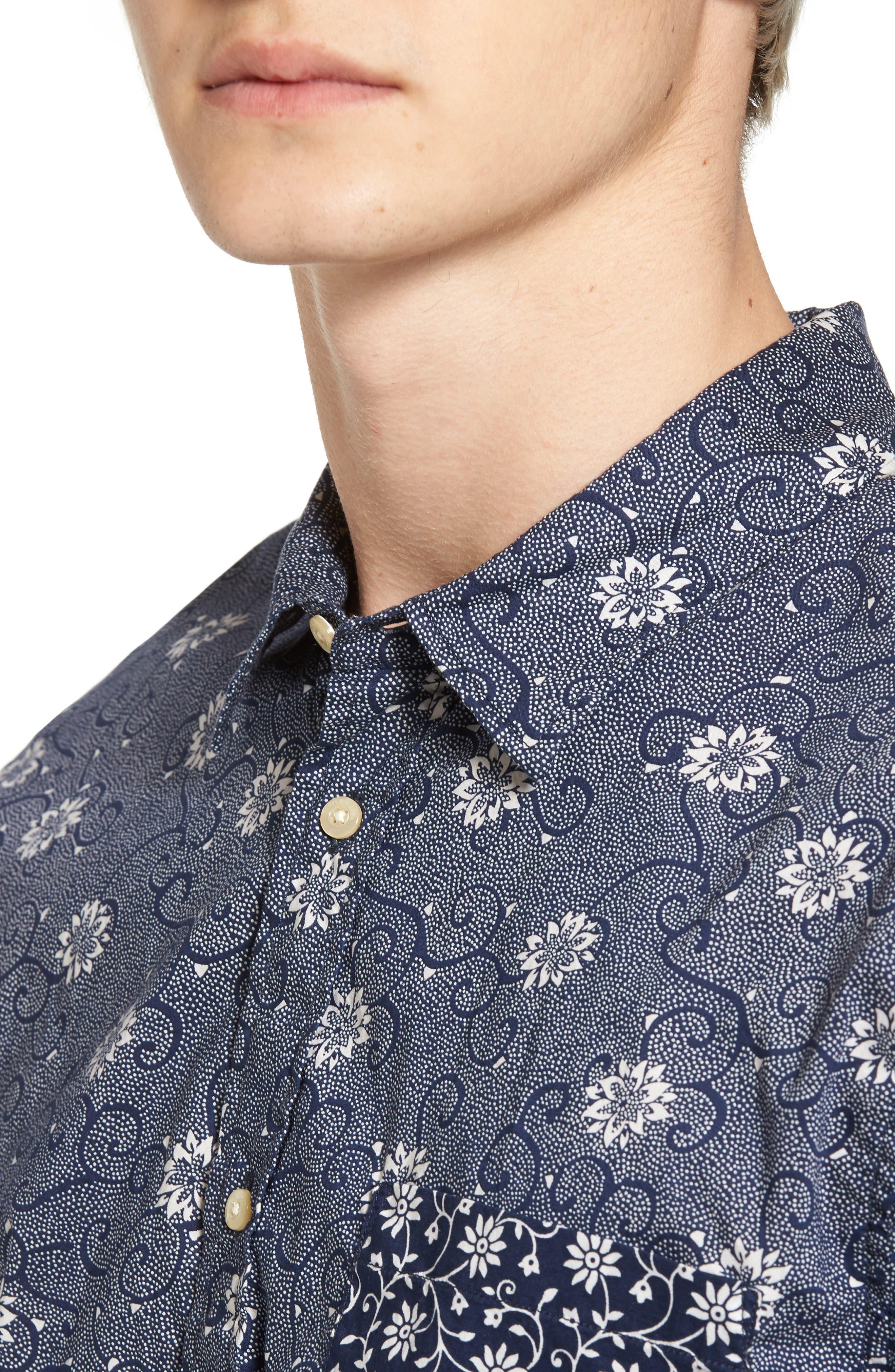 Mix & Match Print Woven Shirt,                             Alternate thumbnail 4, color,                             410
